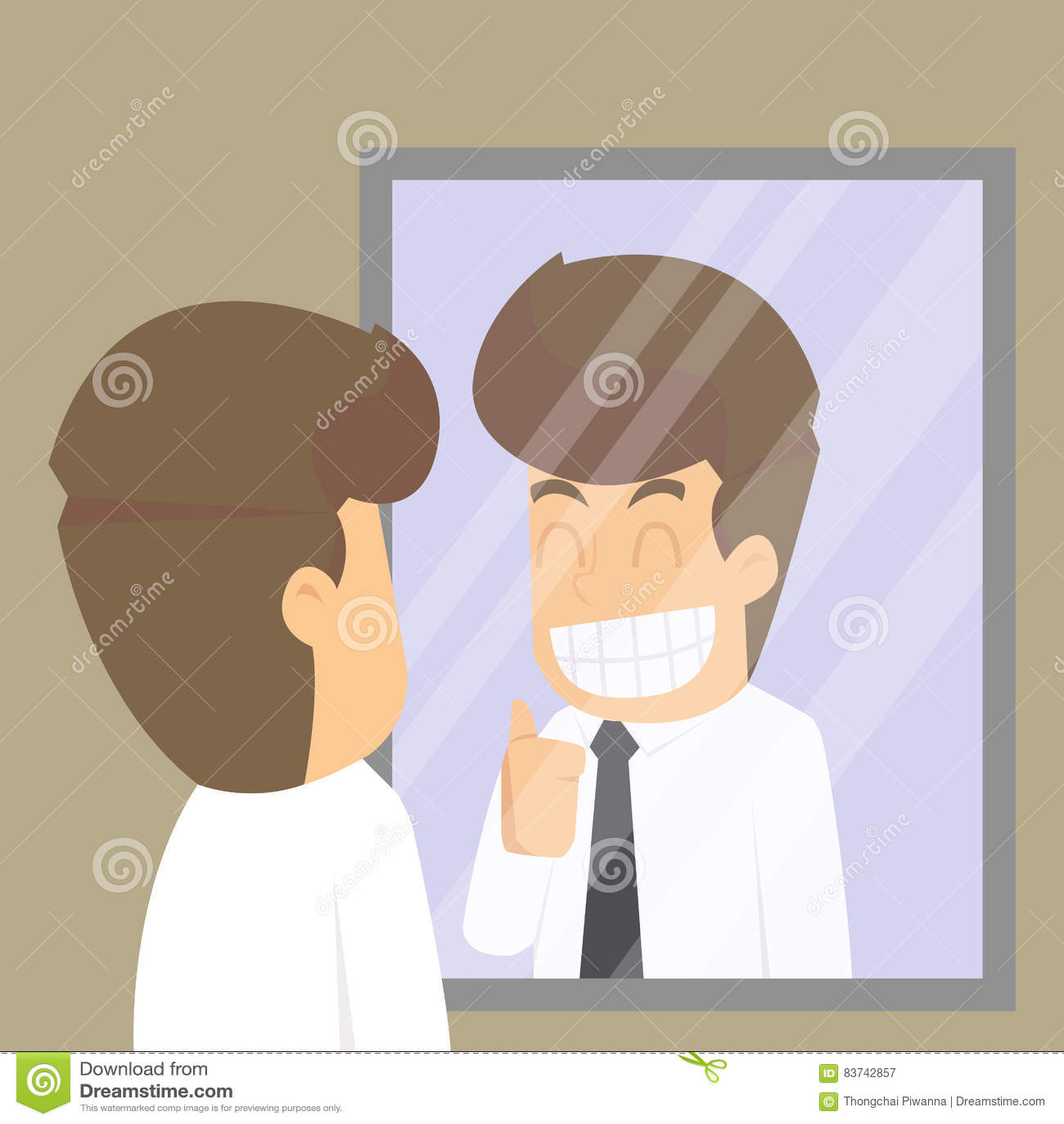 商人,在欢呼自己的镜子的神色,承诺