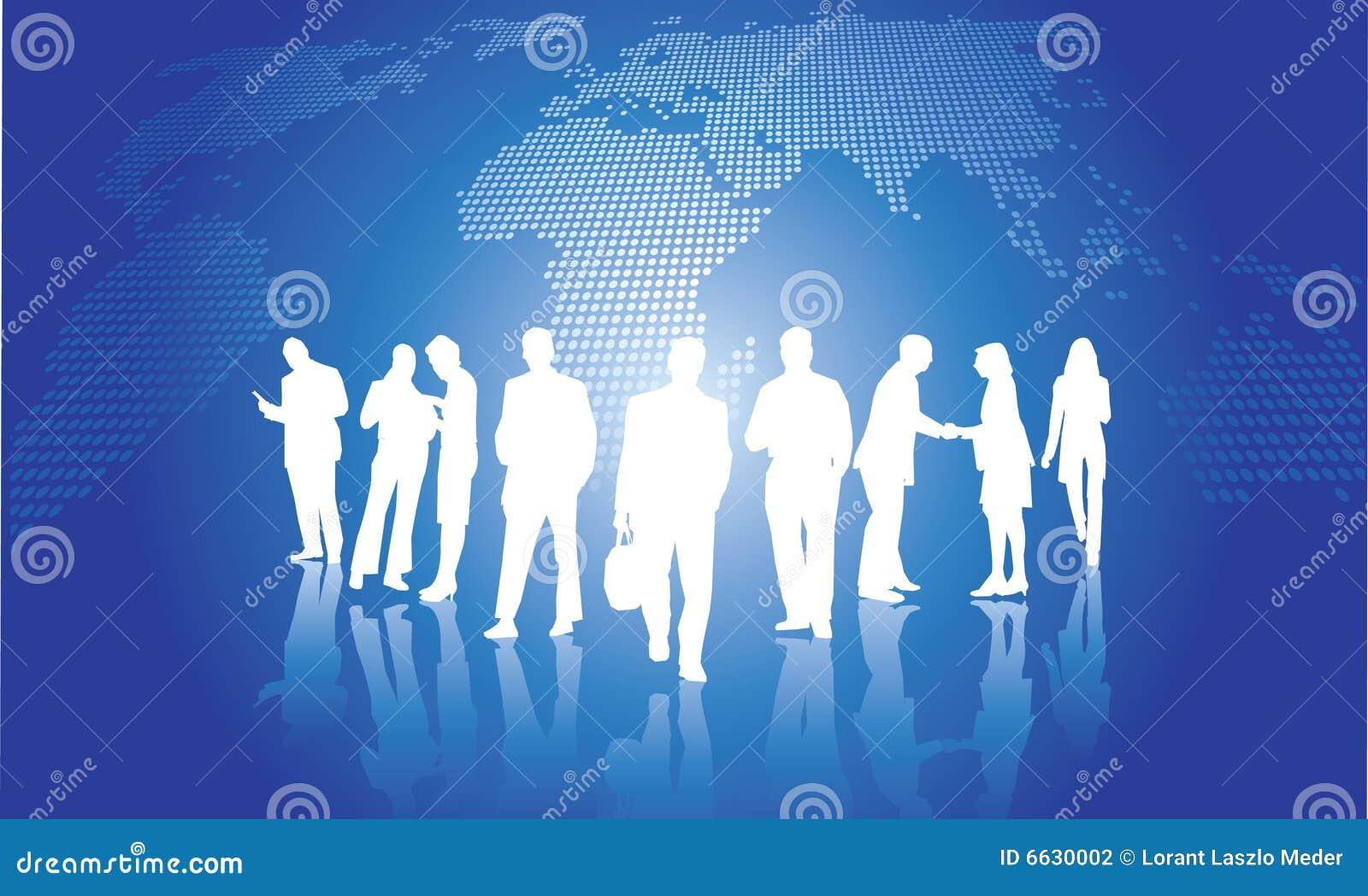 背景企业全球人小组.