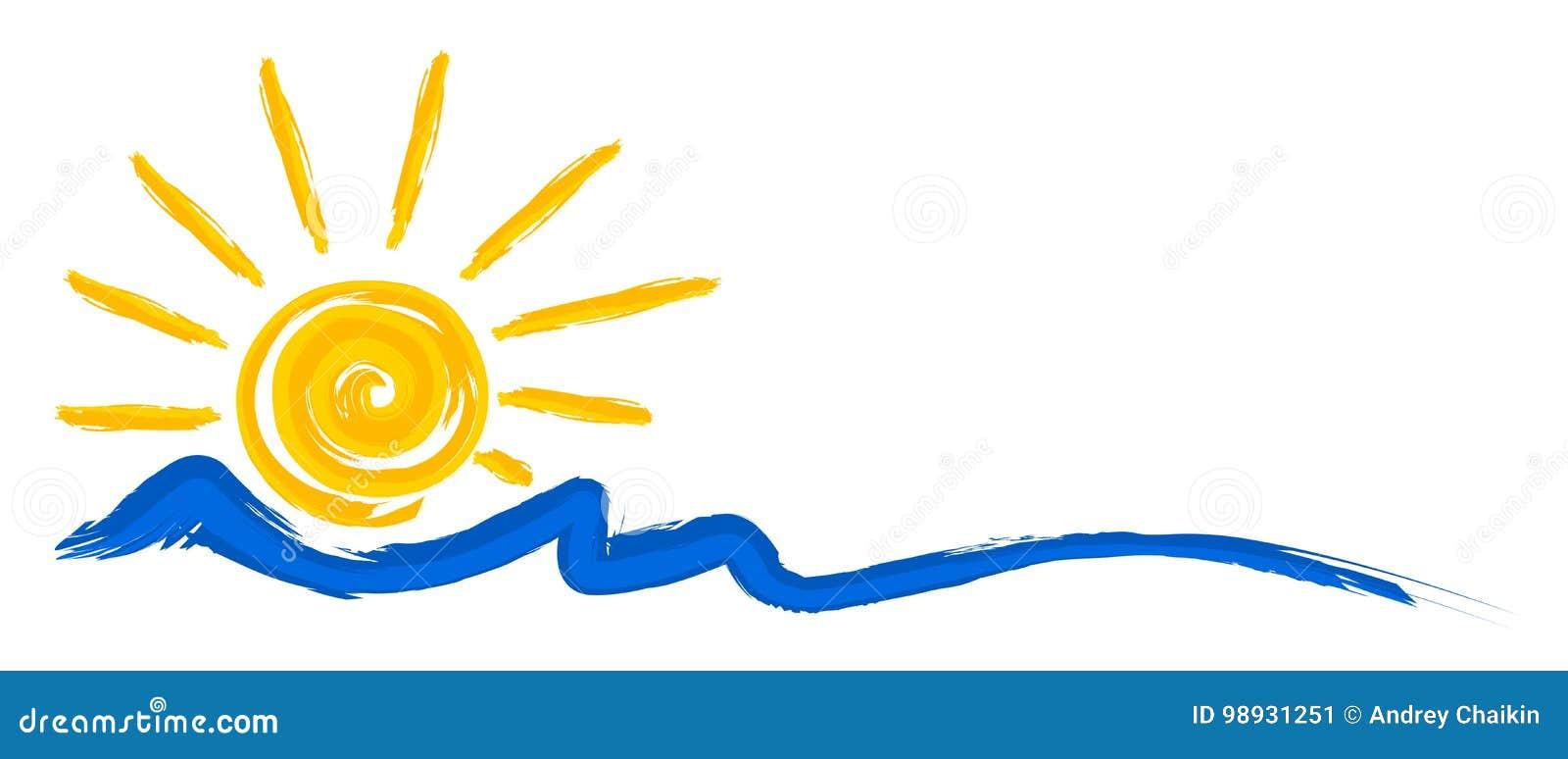商标太阳和海