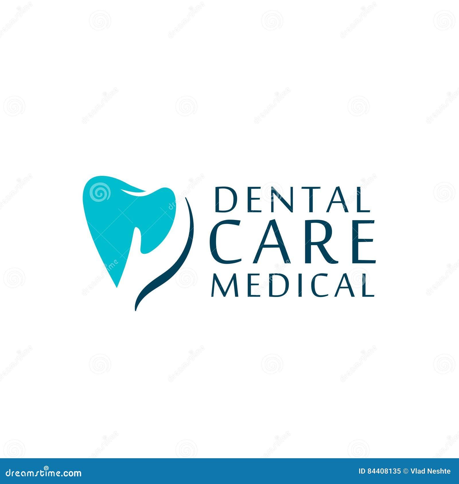 商标牙齿保护诊所,孩子的牙科 牙抽象象