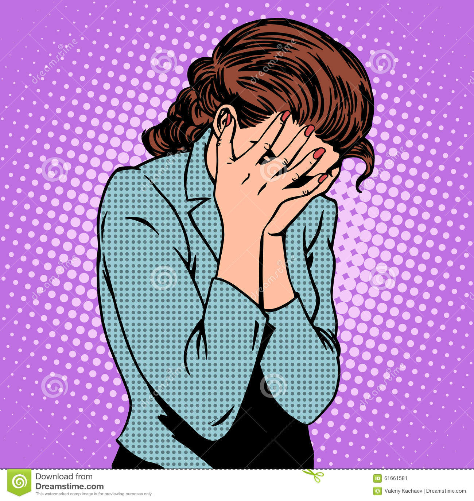 啜泣的妇女情感哀情