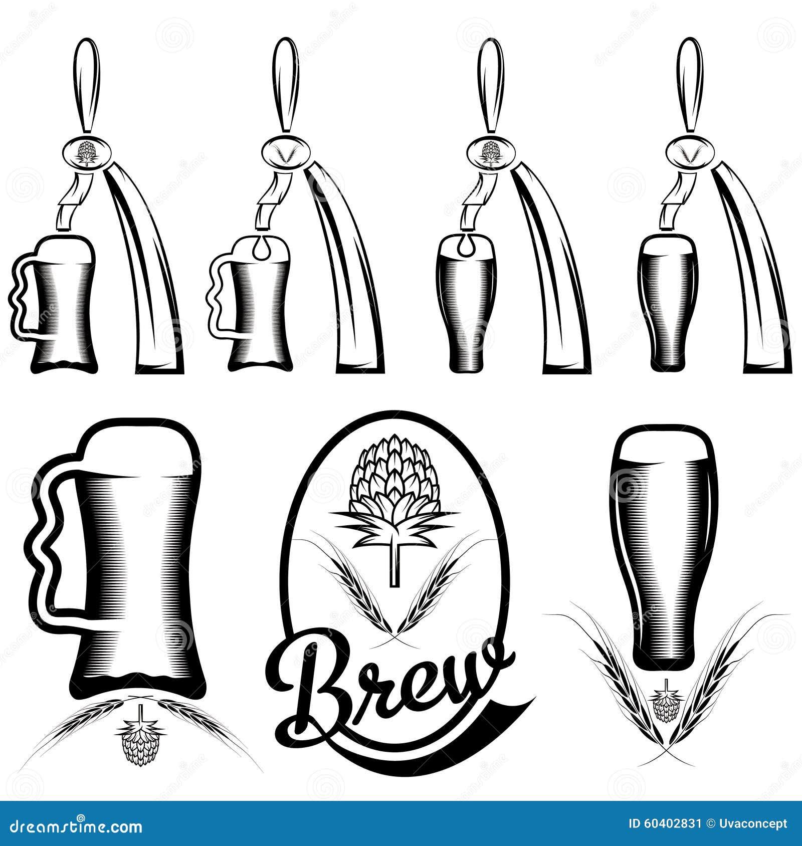 啤酒和啤酒分配器的汇集