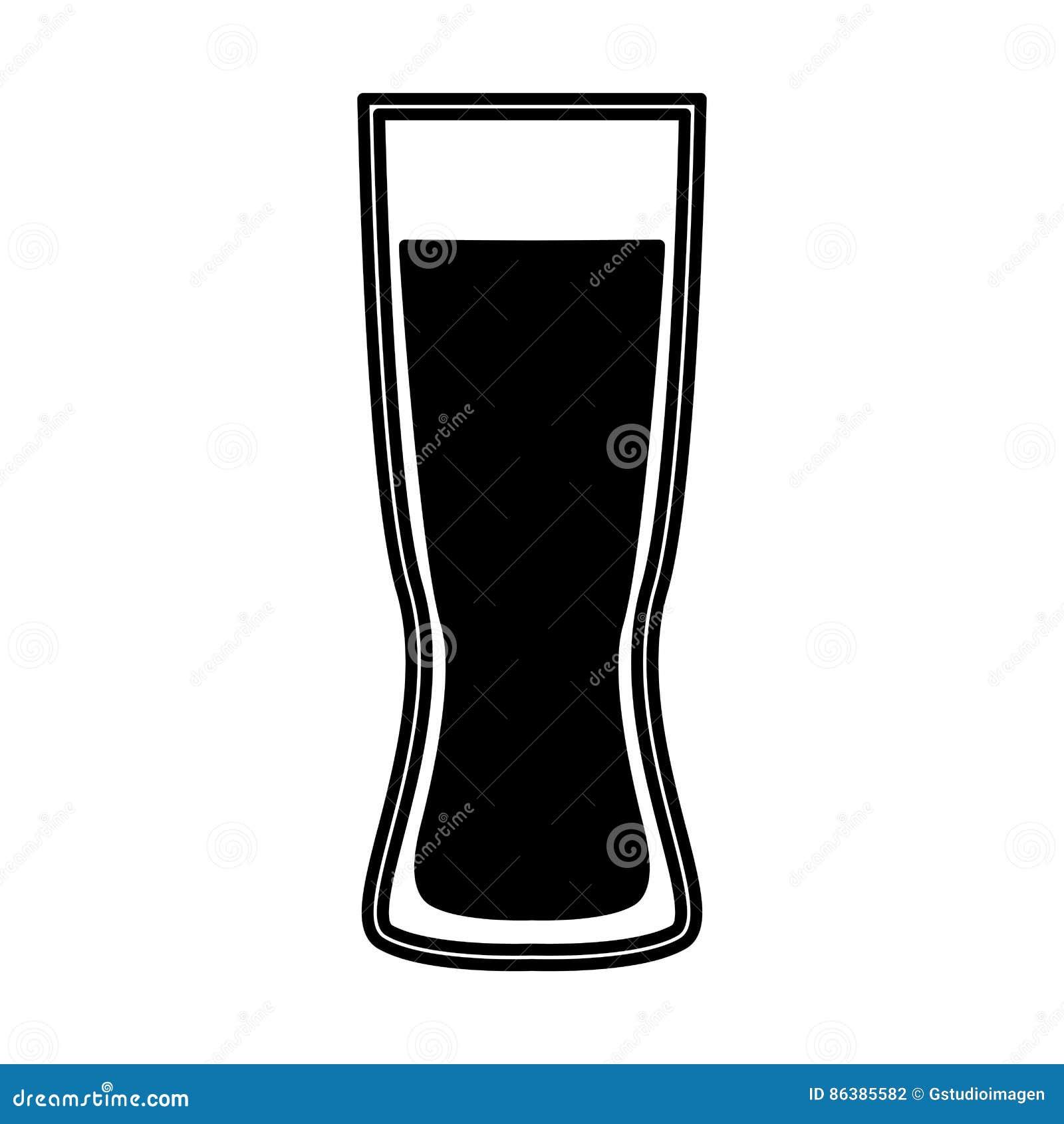 啤酒杯被隔绝的象