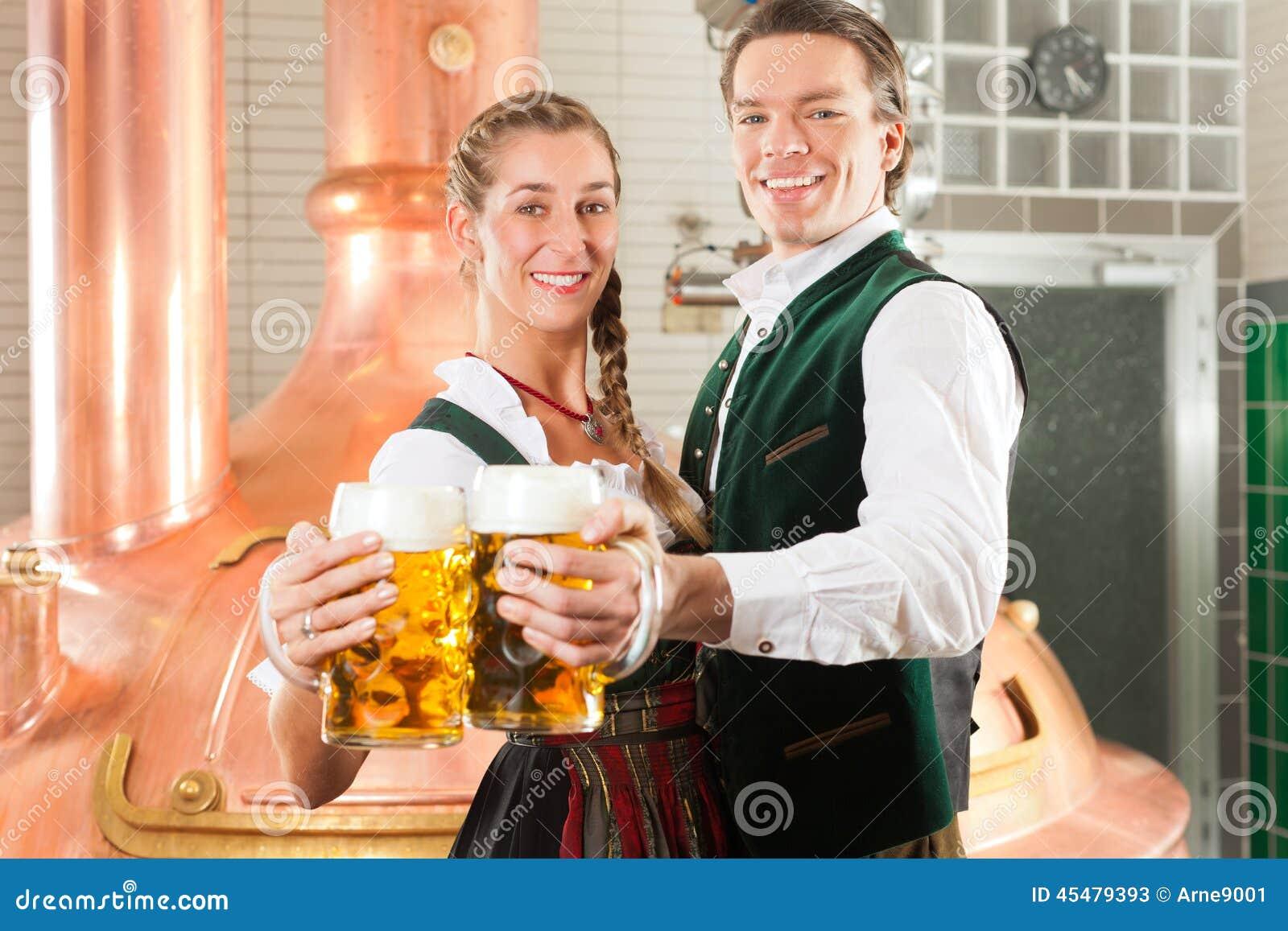 啤酒酿酒厂玻璃人妇女