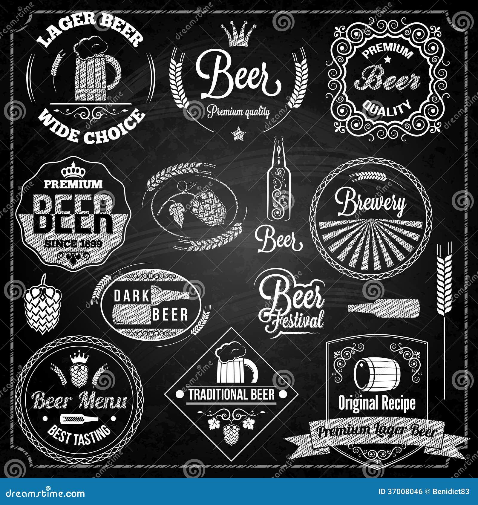 啤酒集合元素黑板