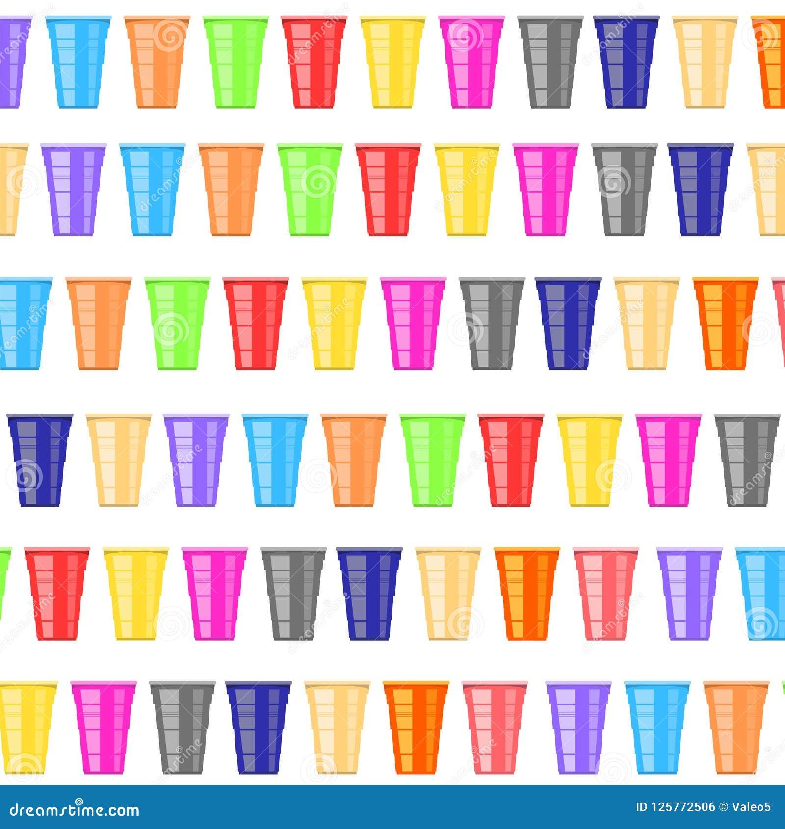 啤酒pong比赛 五颜六色的塑料杯子 党的趣味游戏 传统饮用的时间