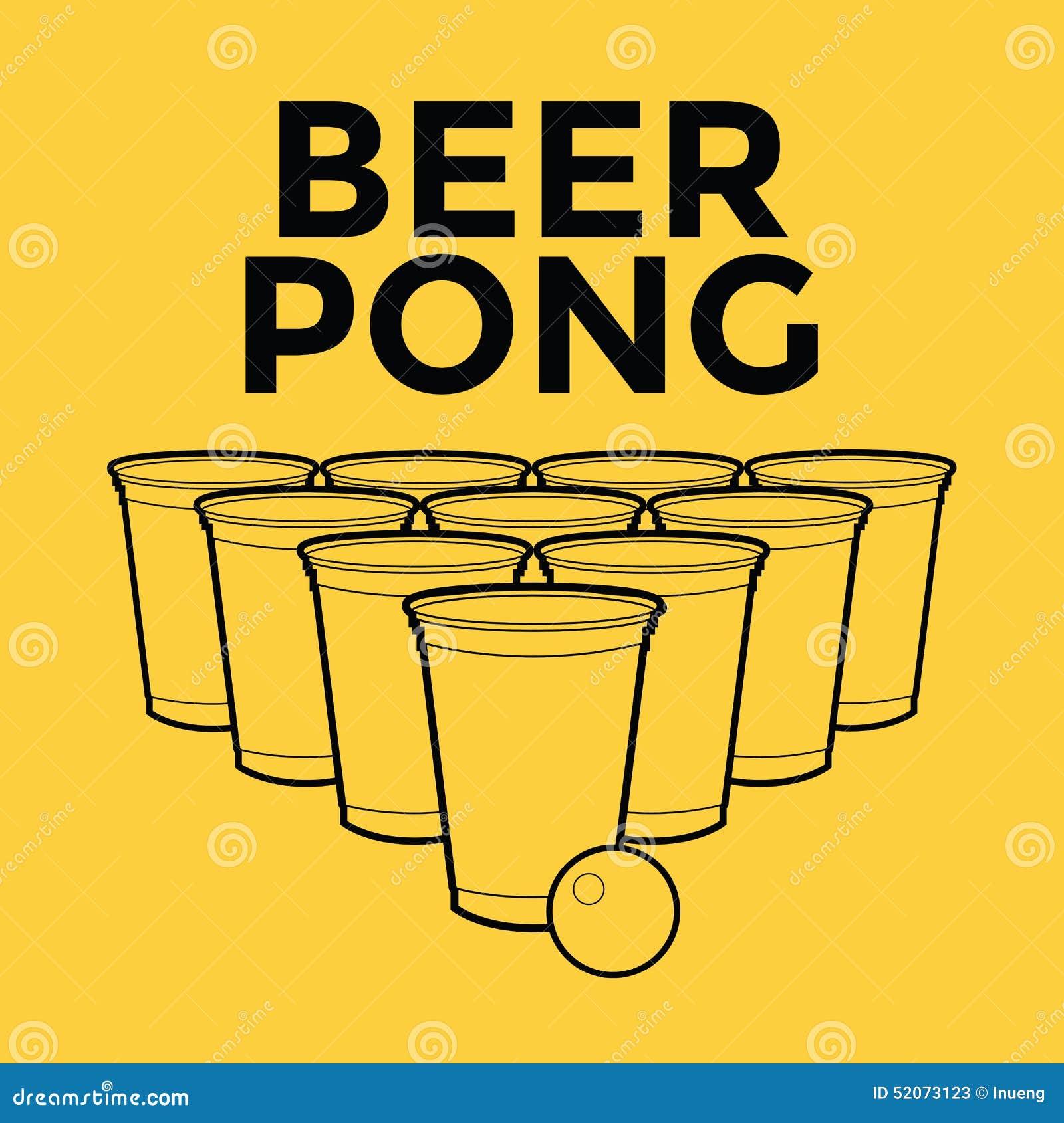 啤酒Pong饮用的比赛
