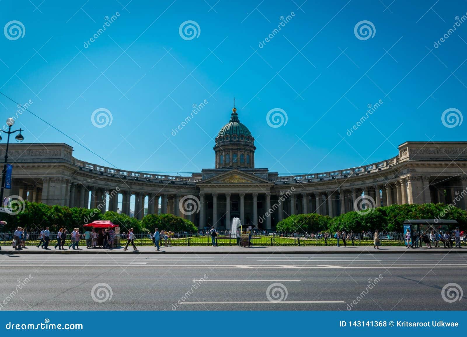 喀山大教堂在圣彼德堡,俄罗斯