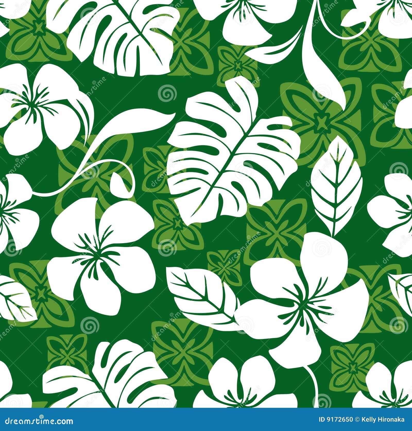 喂星期五夏威夷模式无缝的衬衣