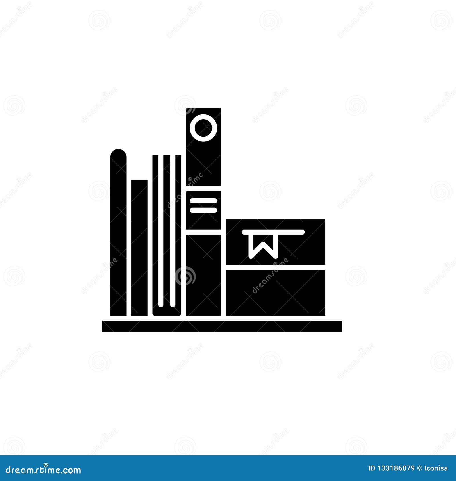 喜爱的书染黑象,在被隔绝的背景的传染媒介标志 喜爱的书概念标志,例证