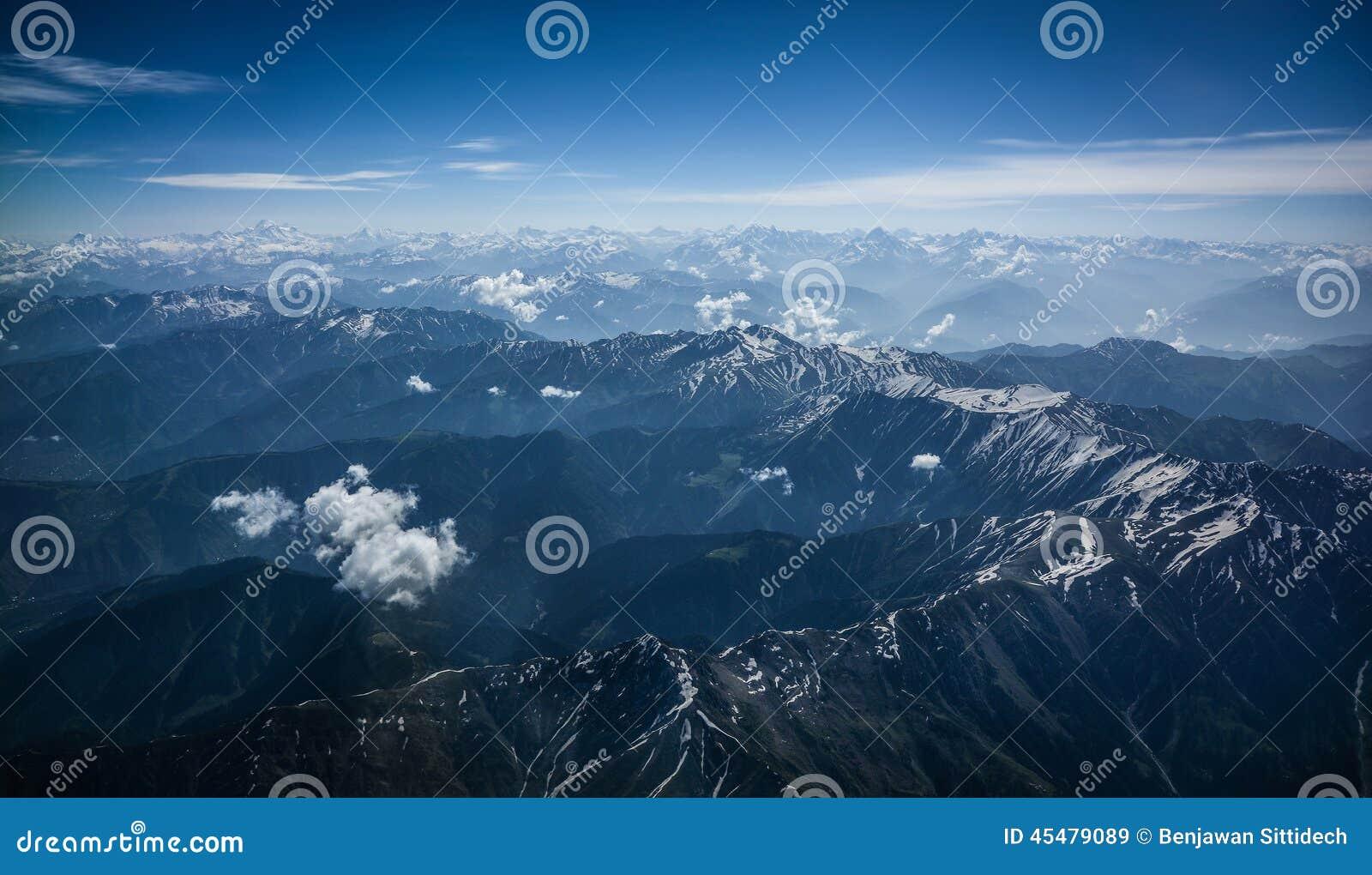 喜马拉雅山俯视图