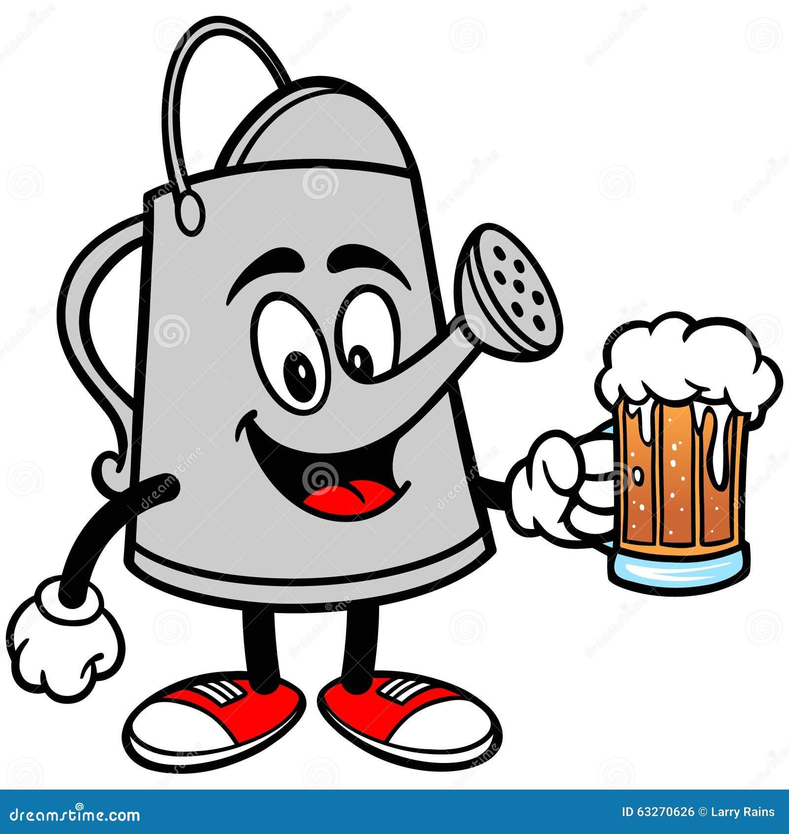 向量例证: 喷壶用啤酒图片