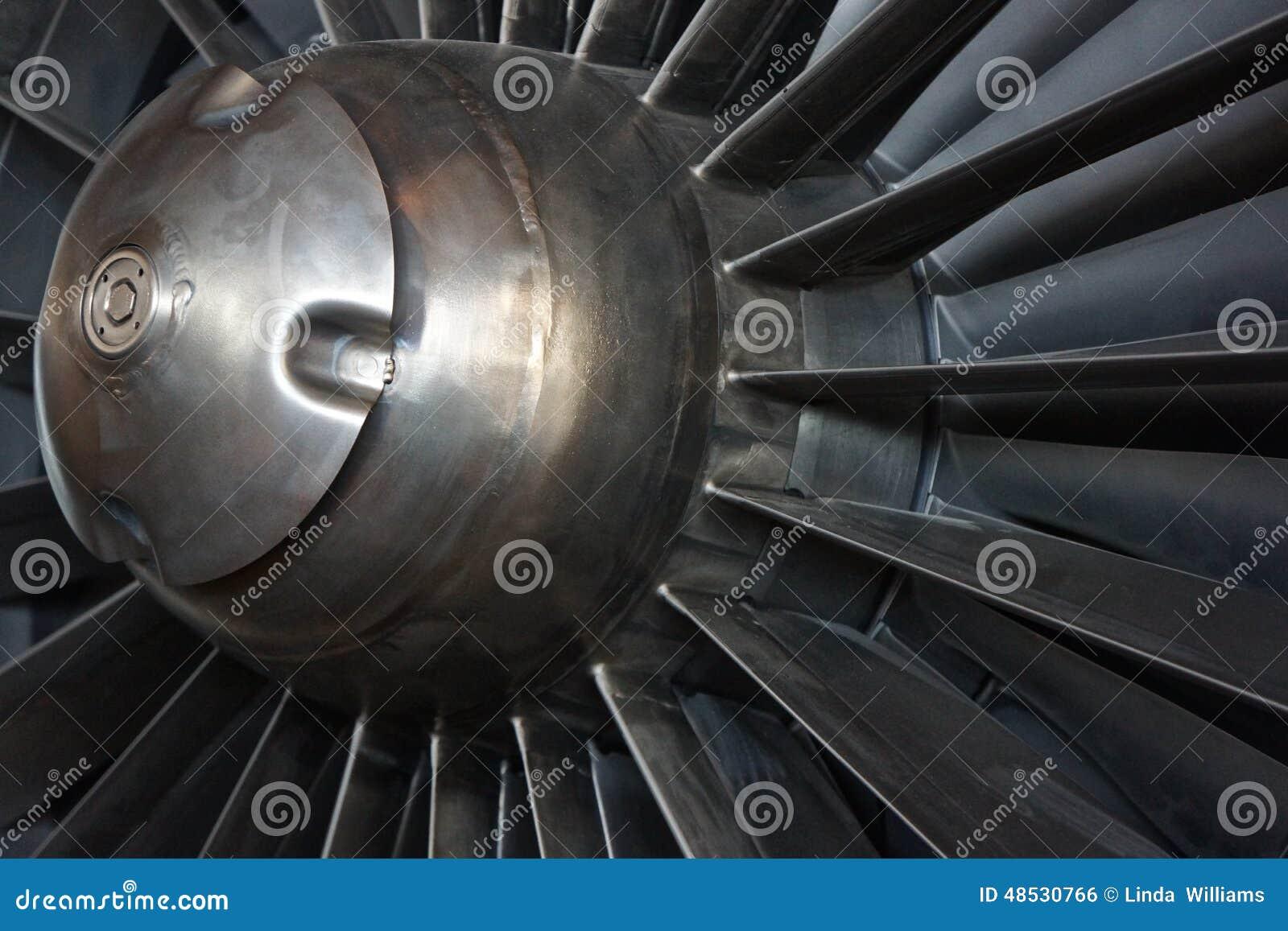 喷气机引擎入口机制特写镜头