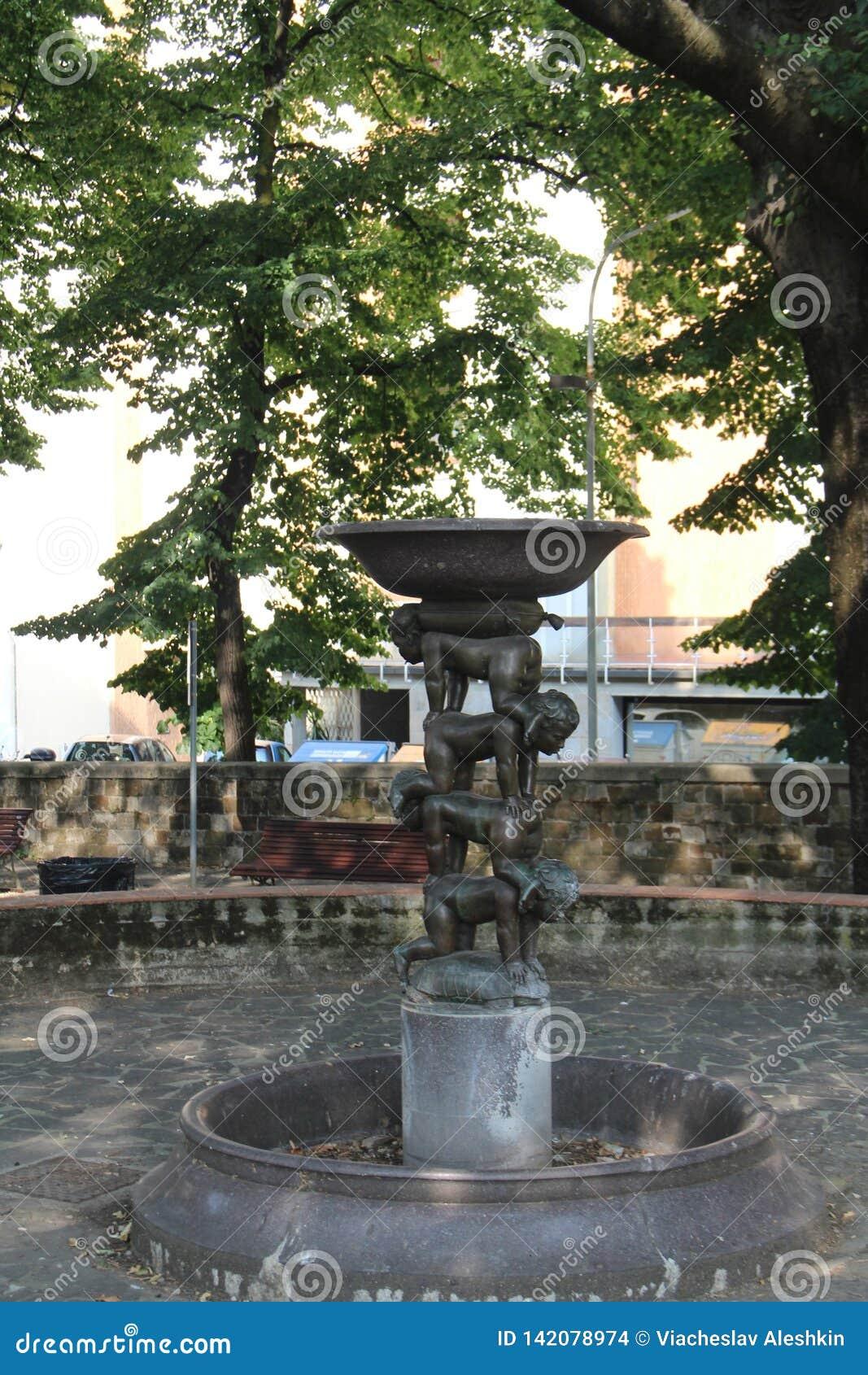 喷泉在佛罗伦萨,意大利