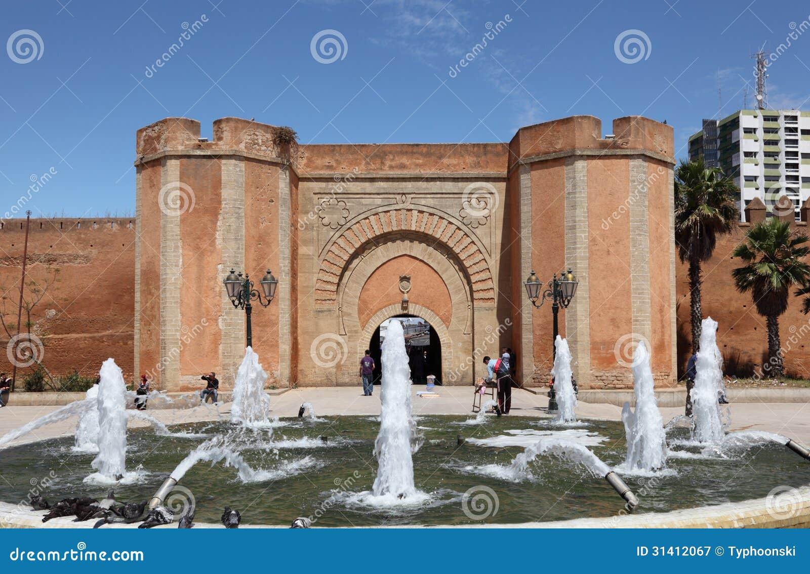 喷泉在拉巴特,摩洛哥
