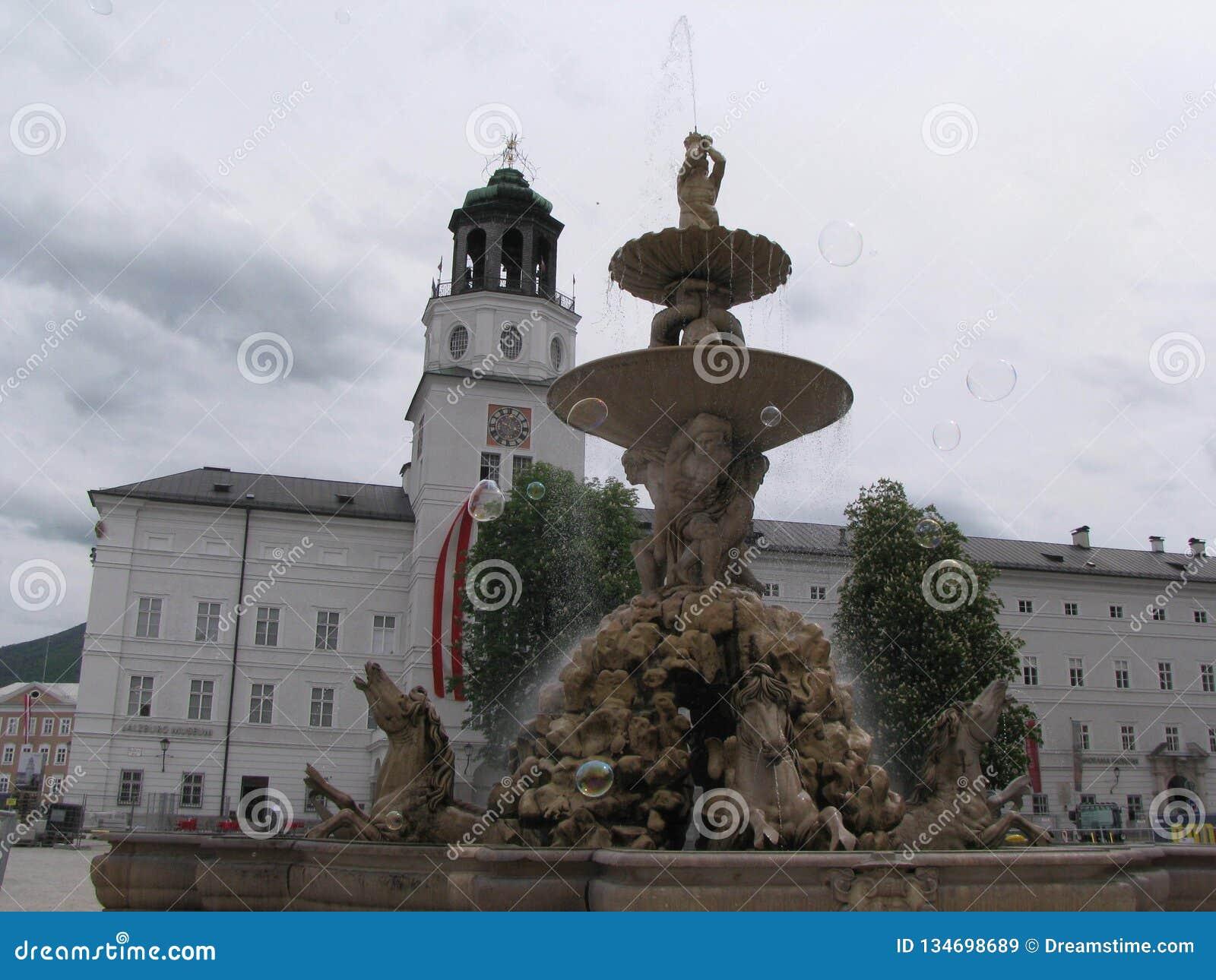 喷泉在萨尔茨堡