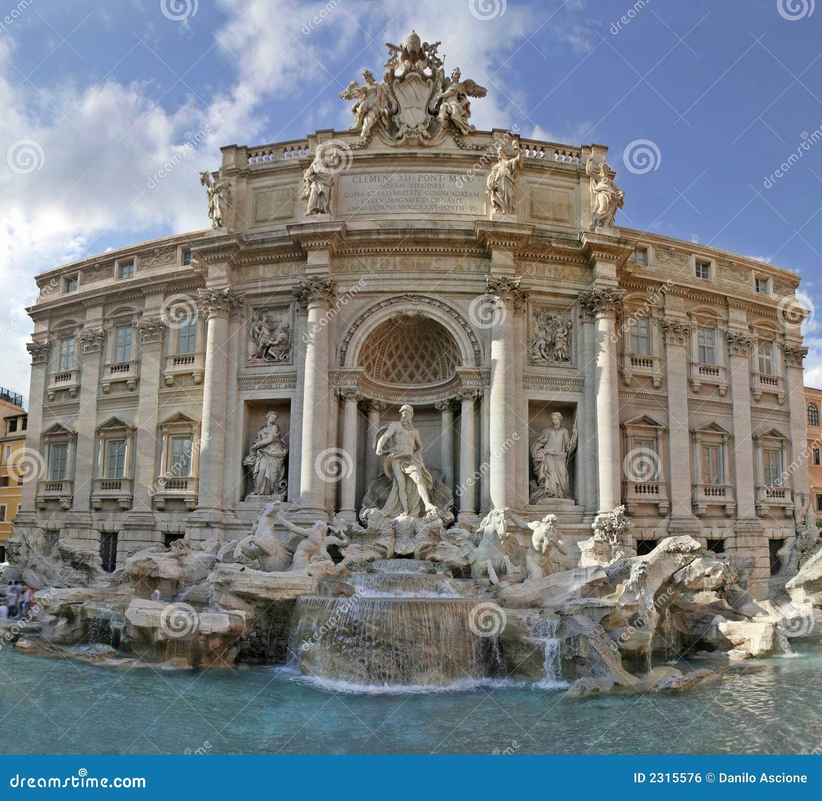 喷泉罗马trevi