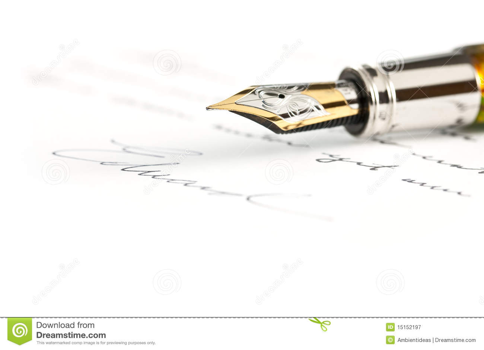 喷泉金笔签名