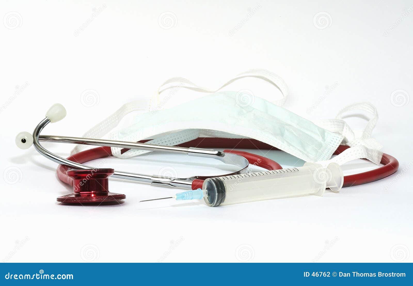 嘴保护听诊器注射器