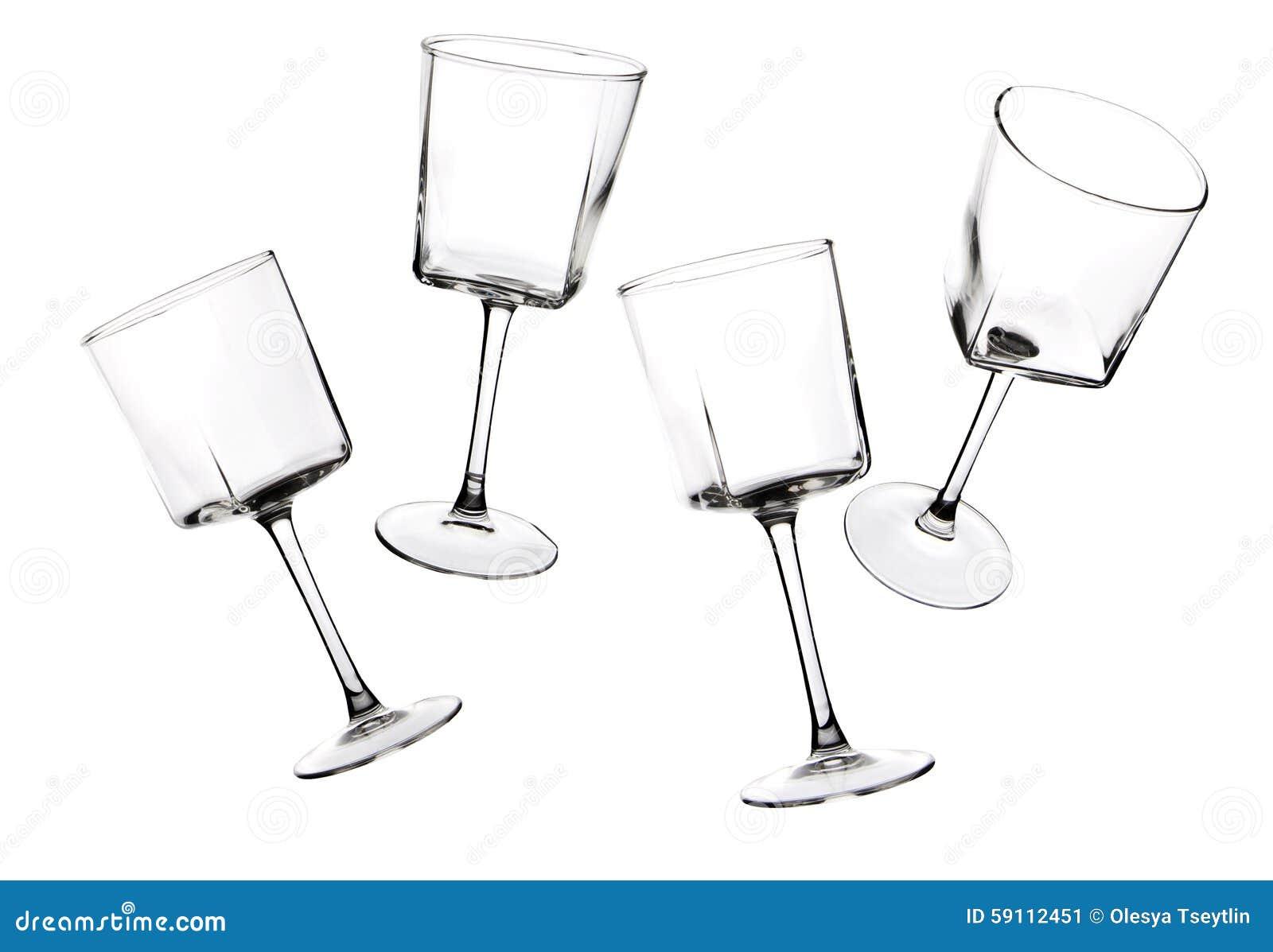 器皿玻璃剪影在白色背景的