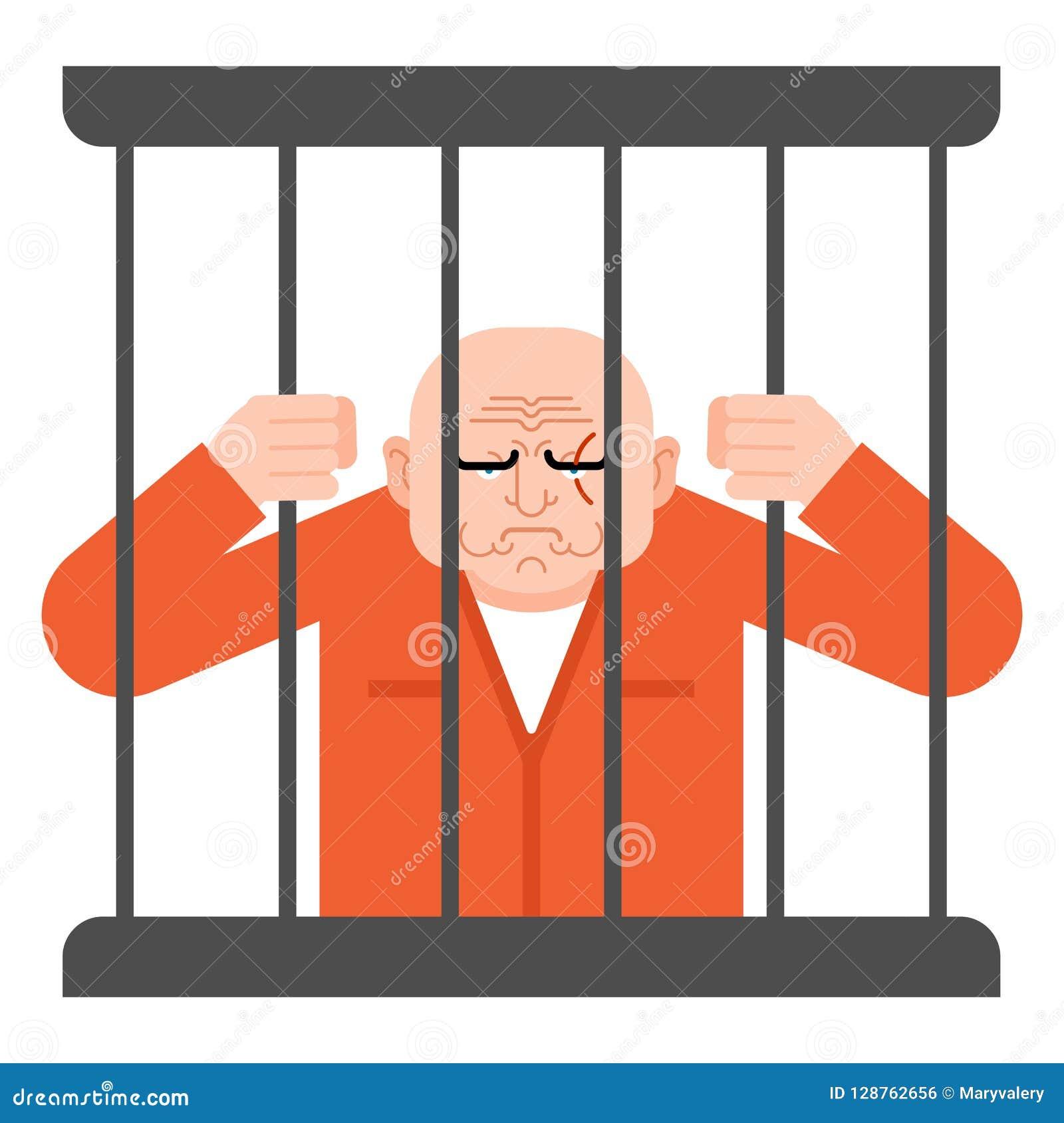囚犯在监狱 证明有罪坚持酒吧