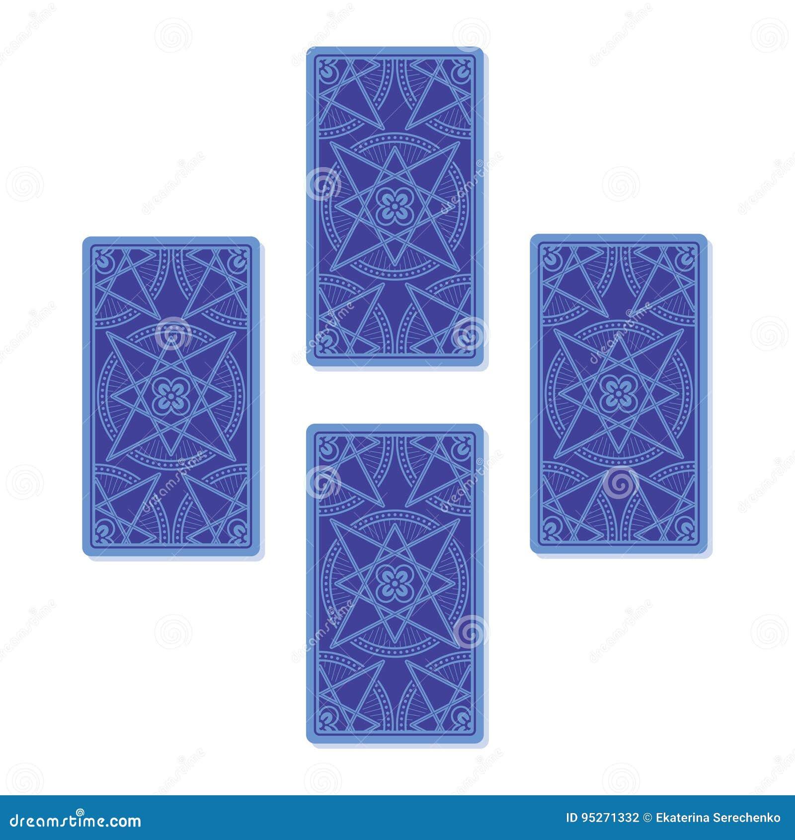 四占卜用的纸牌传播 反面