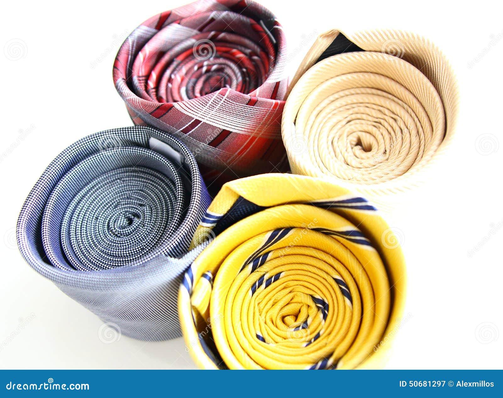 Download 四条不同滚动的颜色豪华领带 库存图片. 图片 包括有 投反对票, 颜色, 红色, 绘画, 检查, 理想, 干净 - 50681297