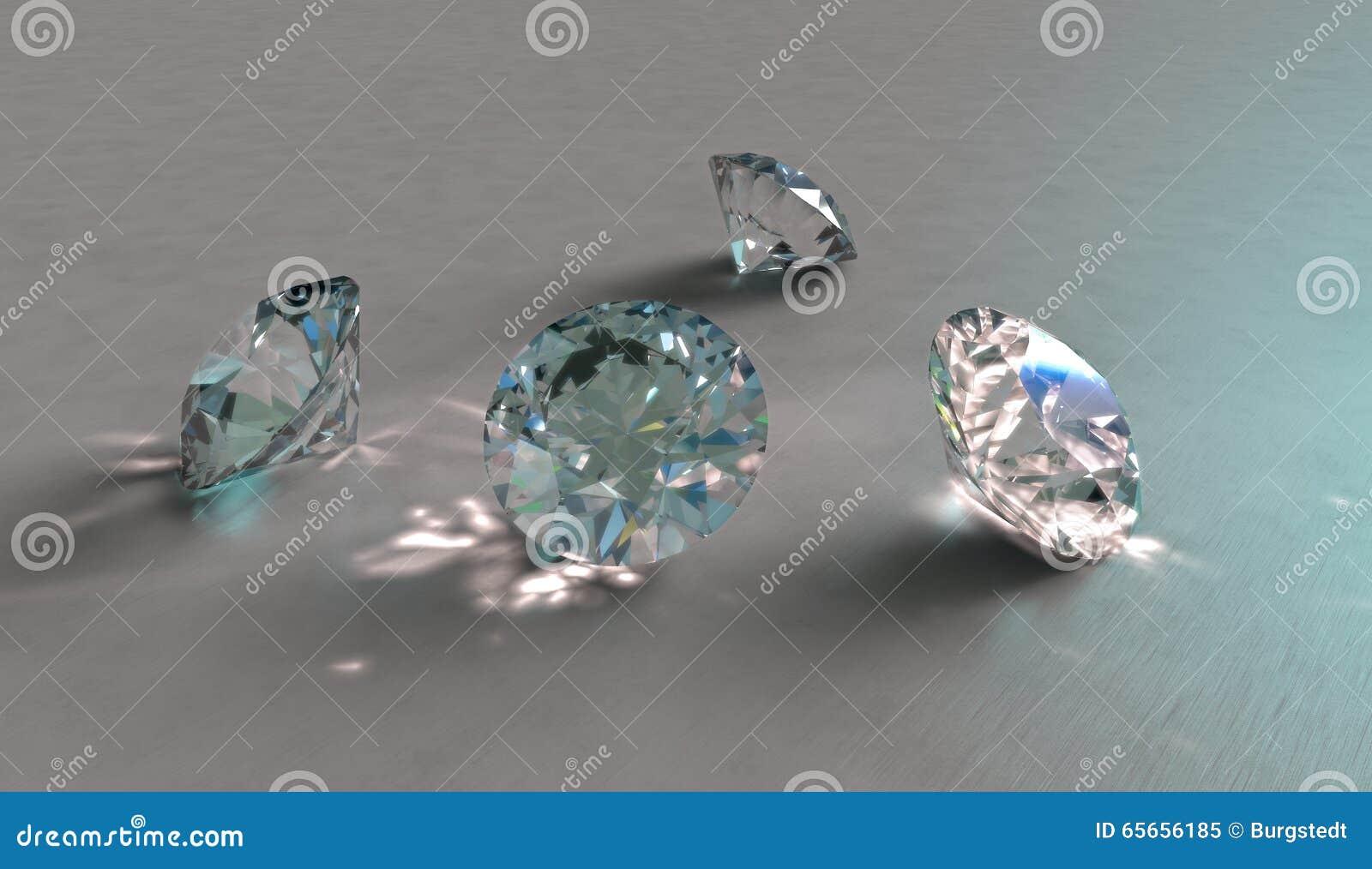 四闪耀的金刚石、水晶或者宝石