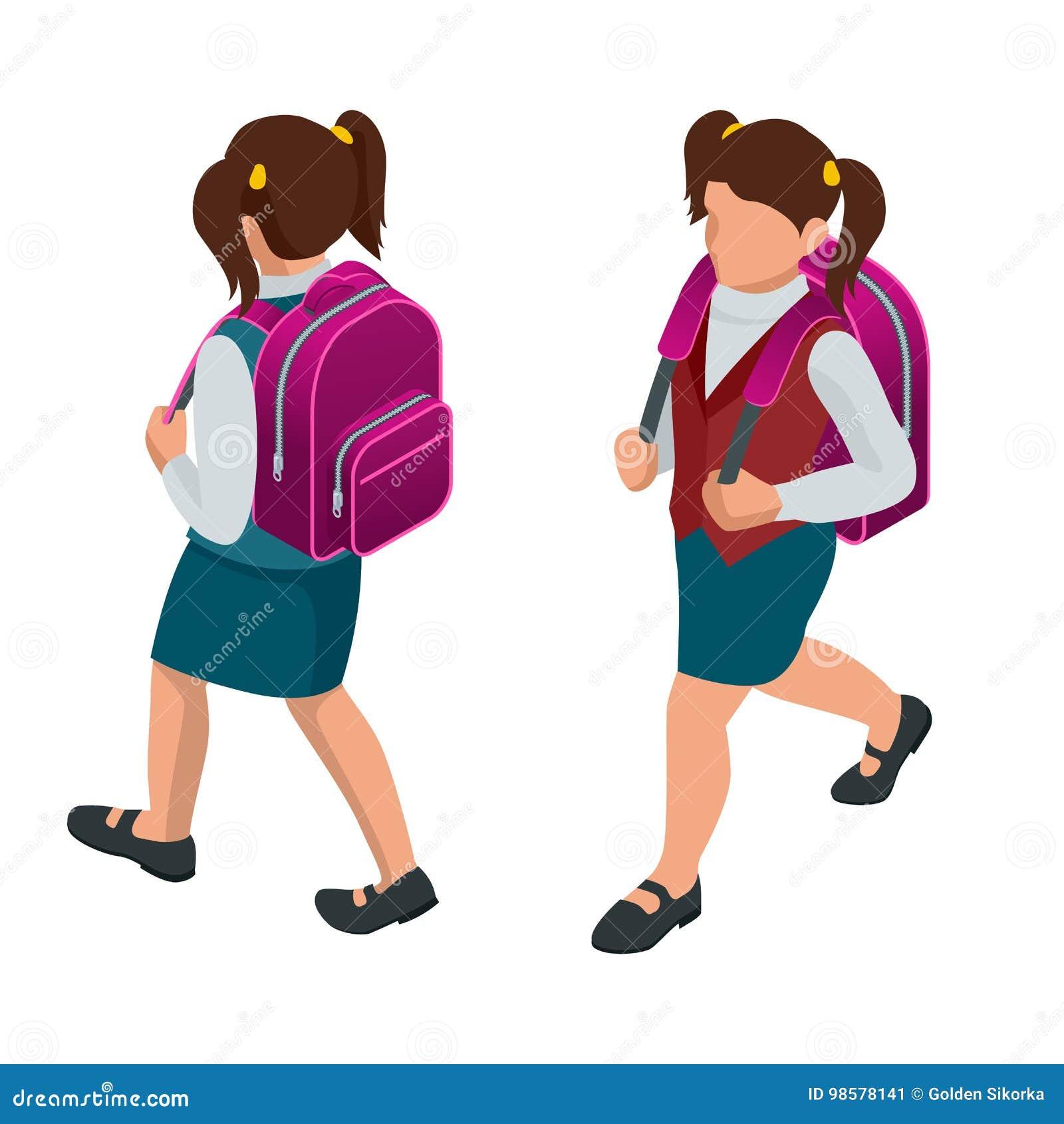 回到学校概念的等量女孩