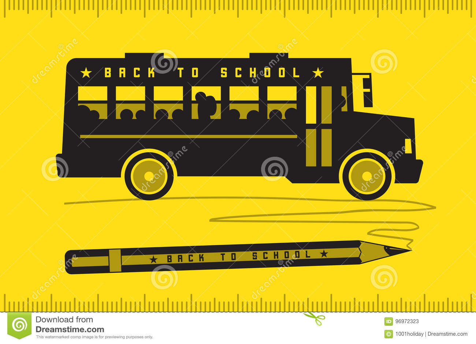 回到学校的校车