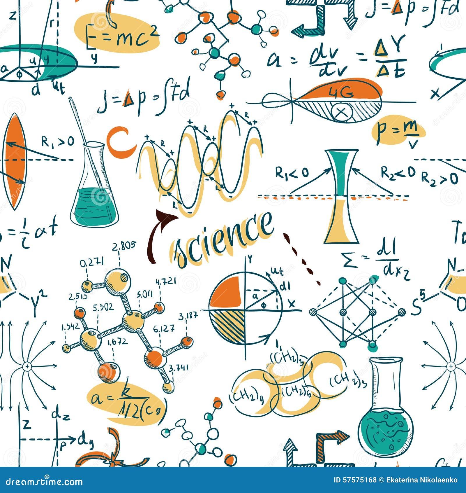 回到学校:科学实验室对象乱画葡萄酒样式剪影无缝的样式,