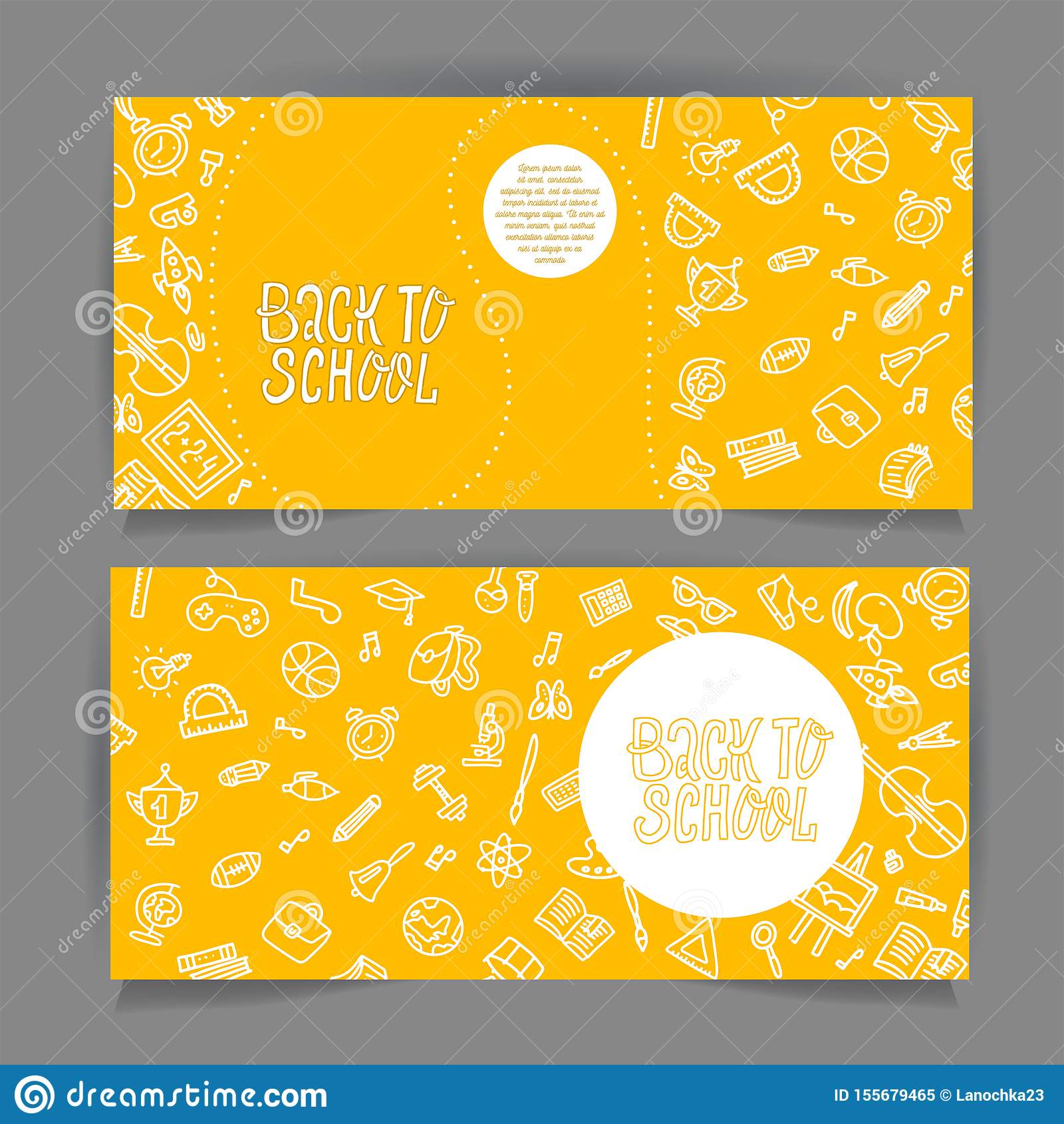 回到用不同的学校对象的学校水平的飞行物模板 学校销售横幅设置与空白线路乱画供应