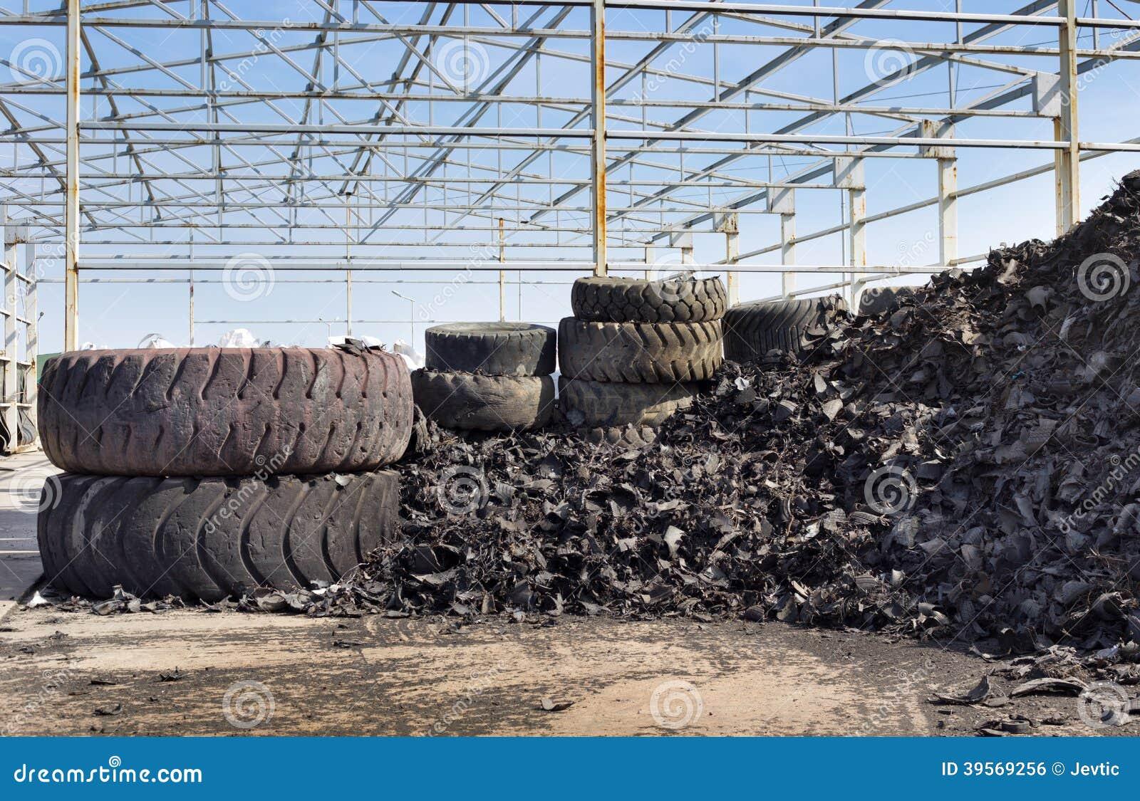 回收产业的轮胎