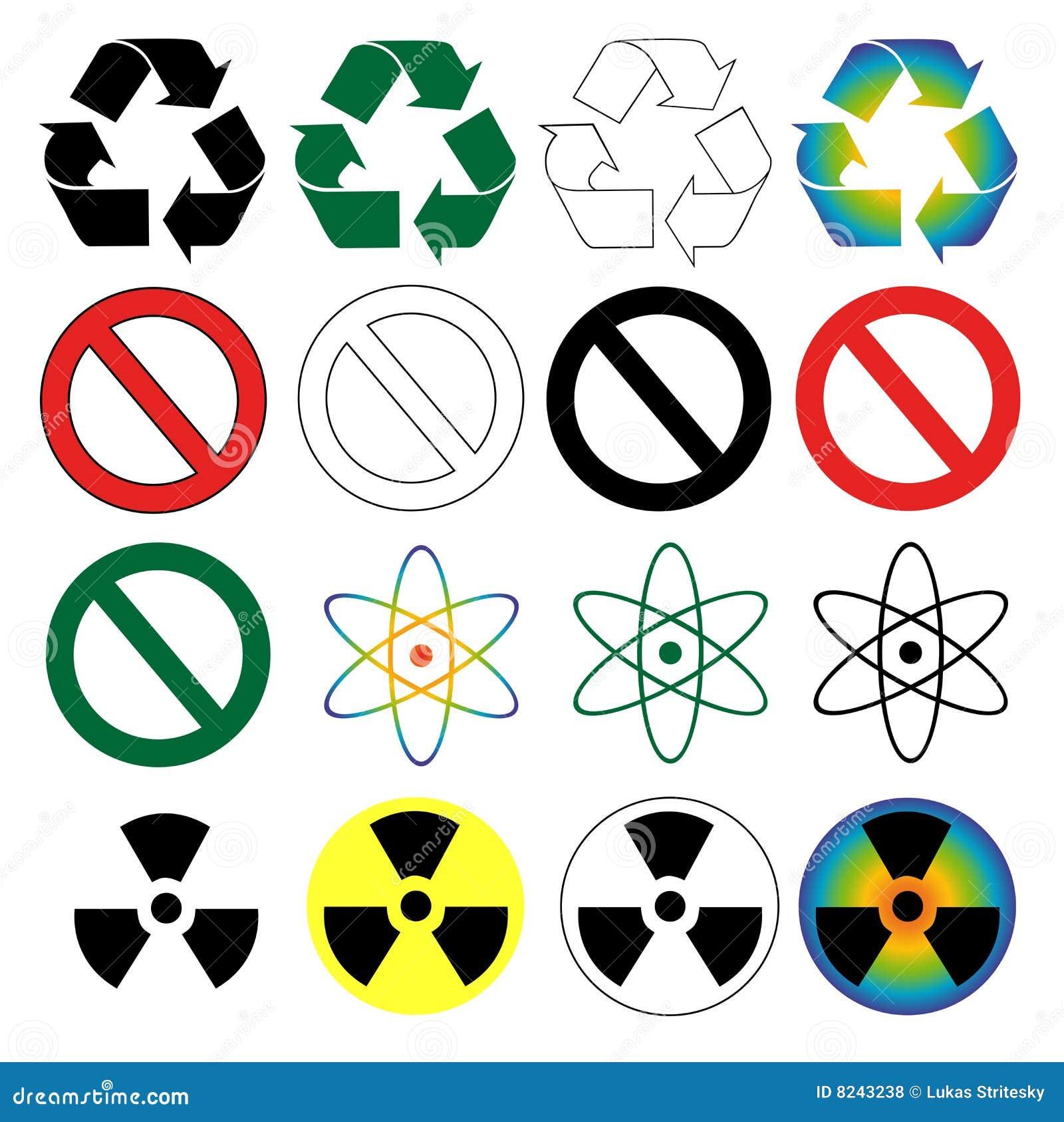 回收科学符号警告的危险