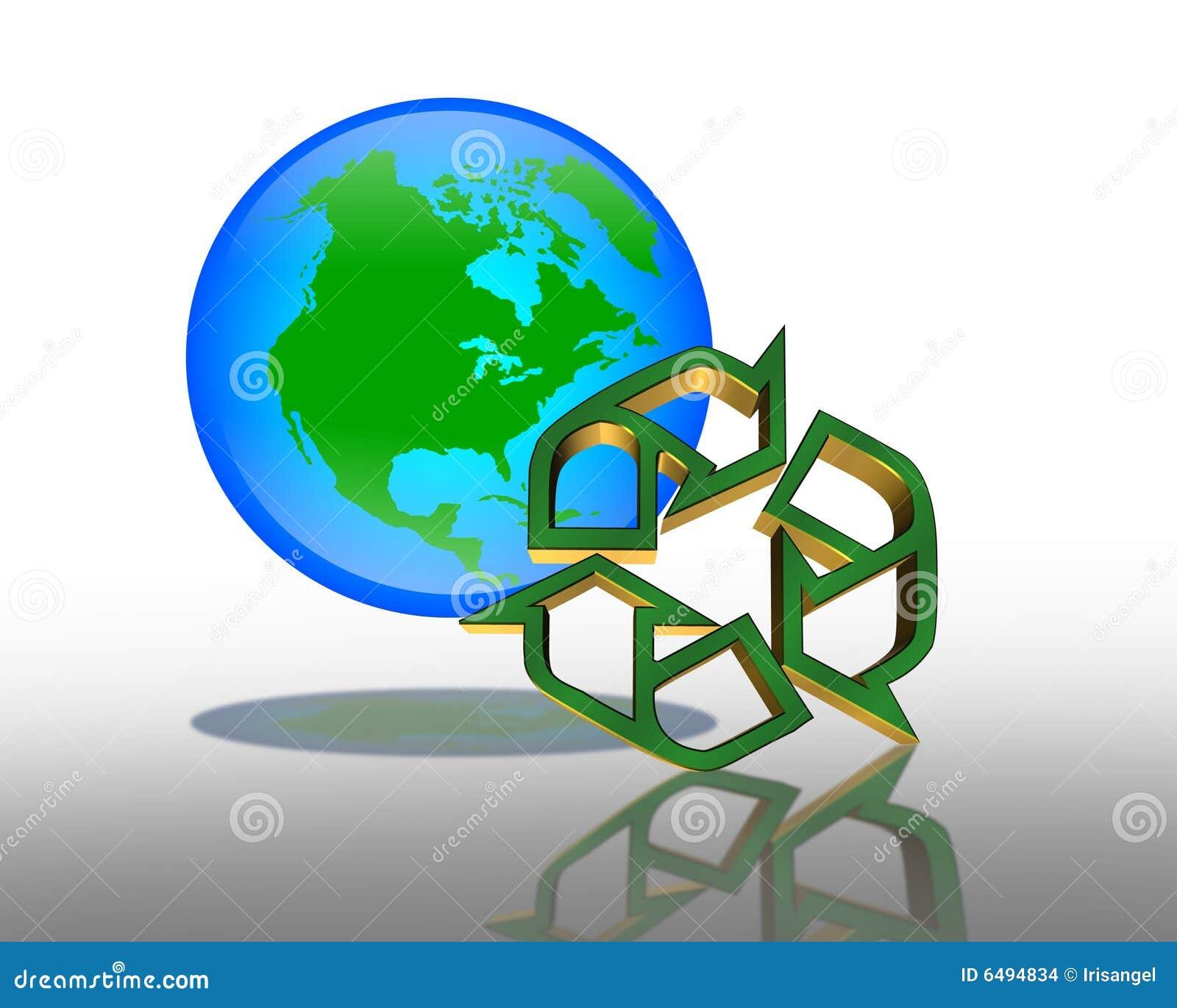 回收符号的日地球