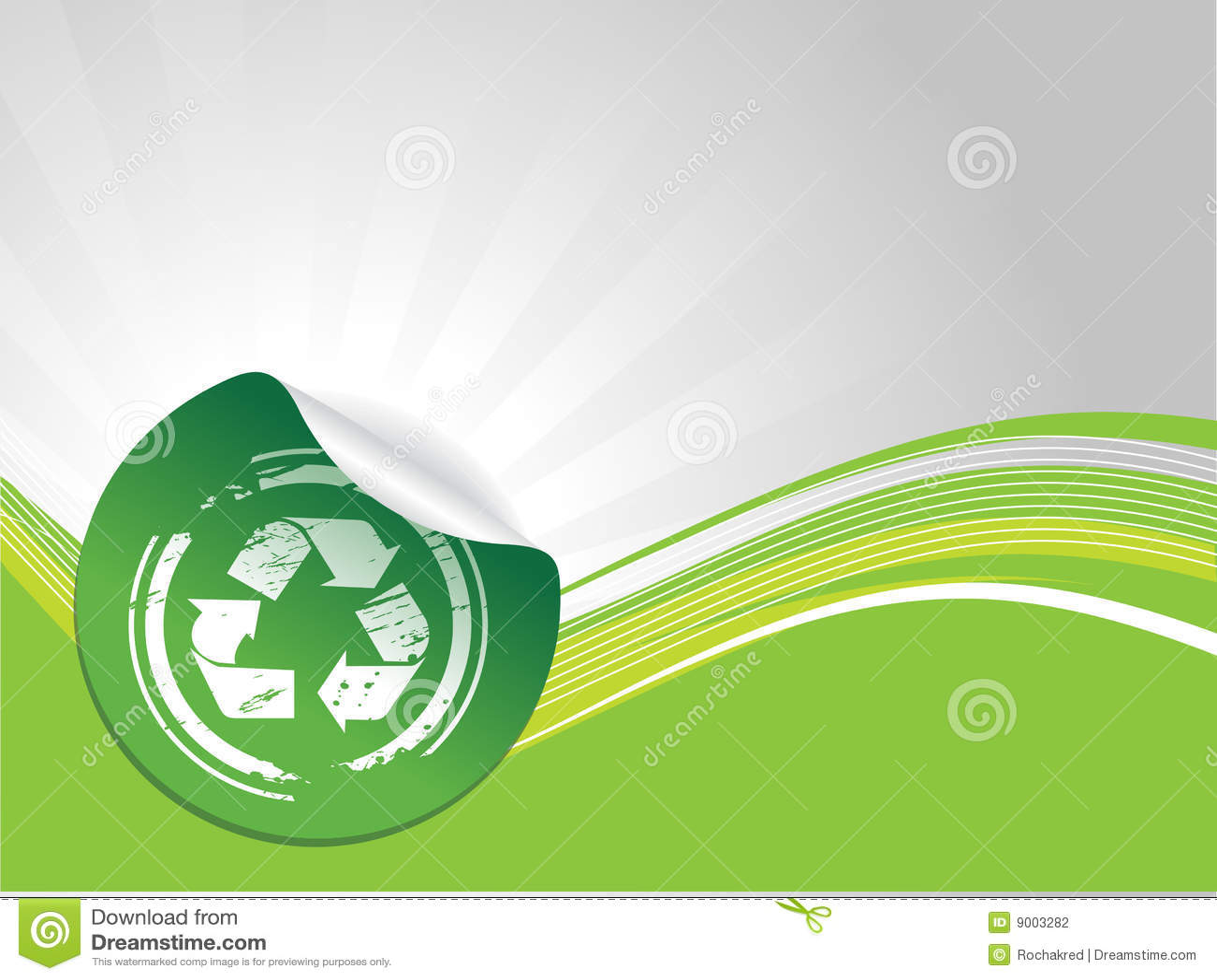 回收符号的grunge