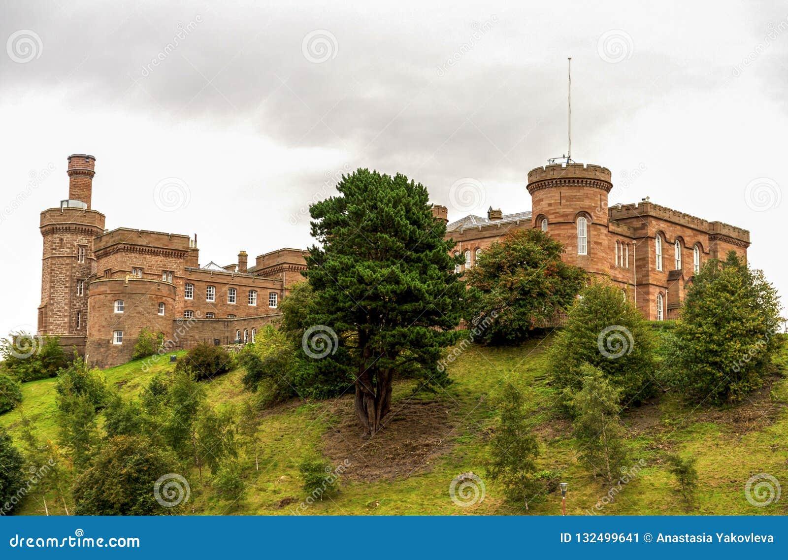 因弗内斯城堡,苏格兰一个风景接近的看法