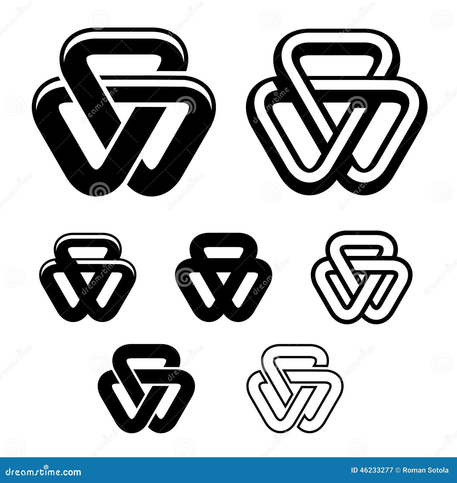 团结三角黑色白色标志图片