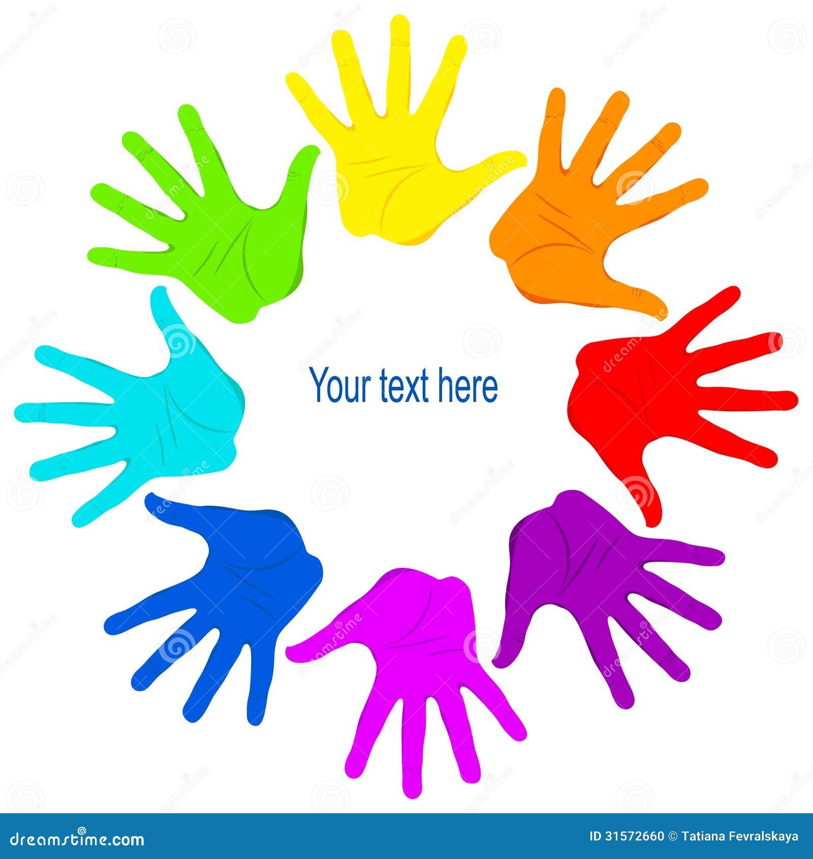团结的色的手掌图片