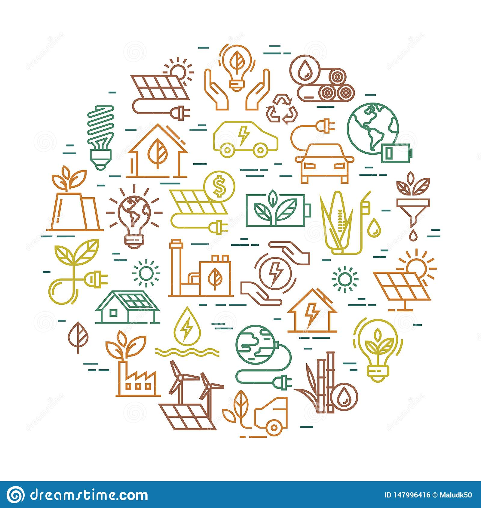 围绕创造性的供选择的能源的传染媒介签字