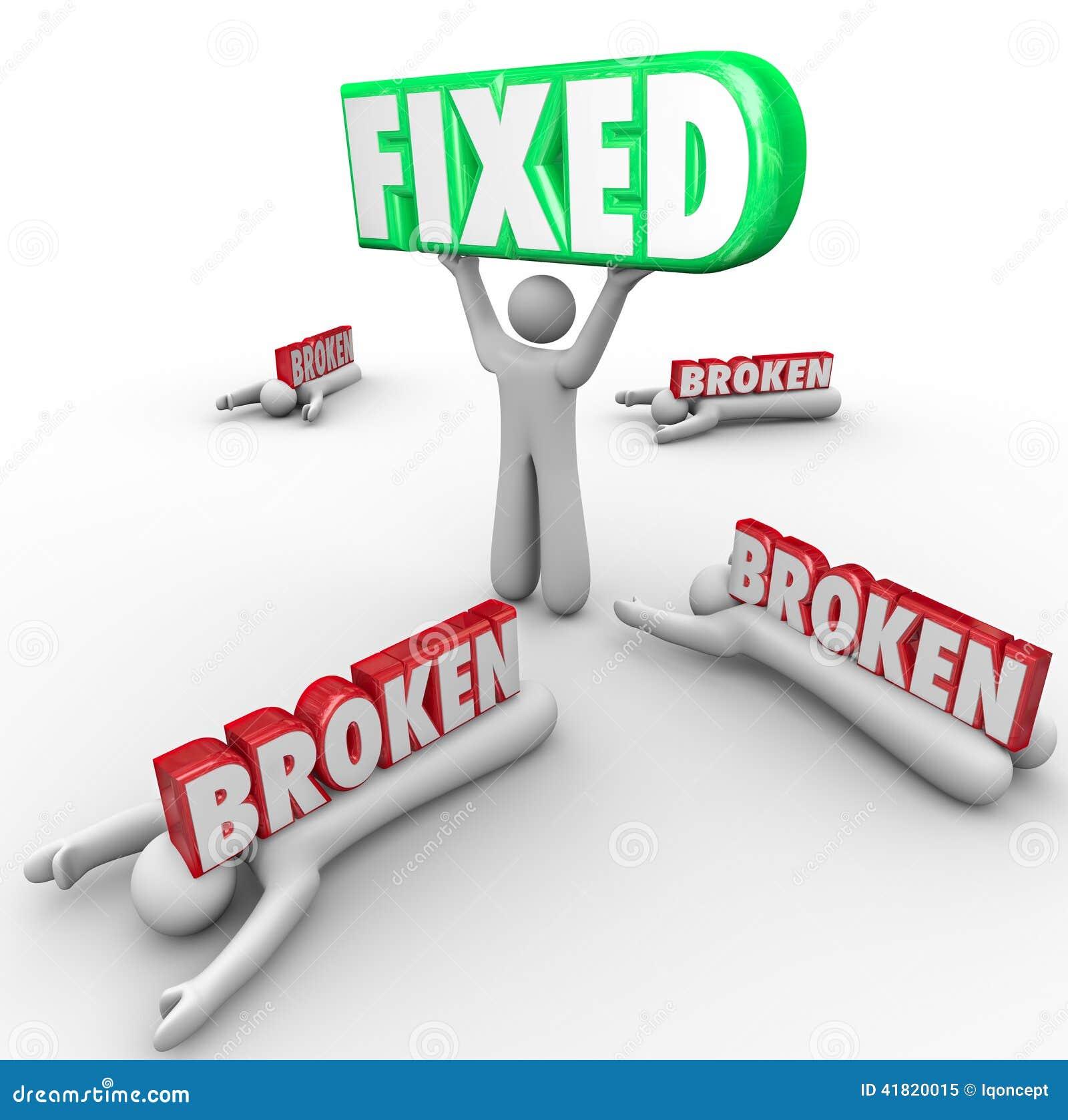 固定对其他发生故障的残破的一人修理解决问题