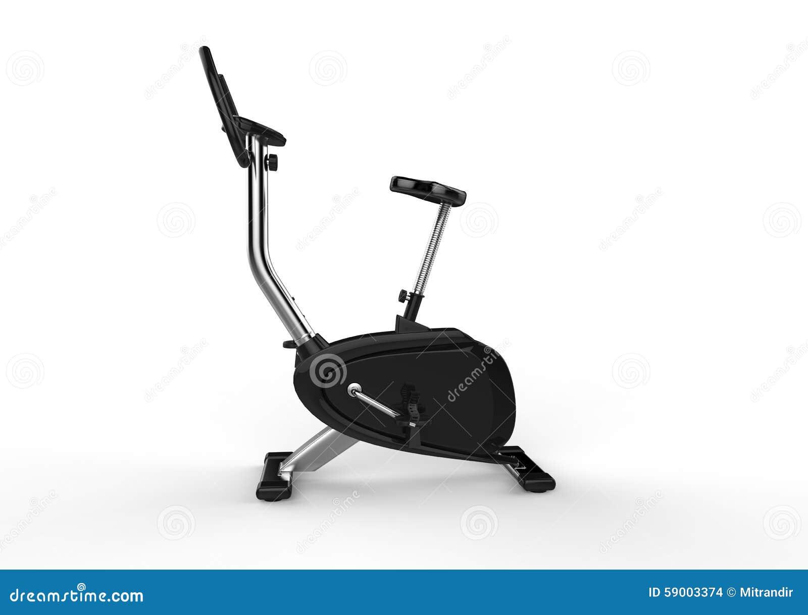 固定式自行车-侧视图