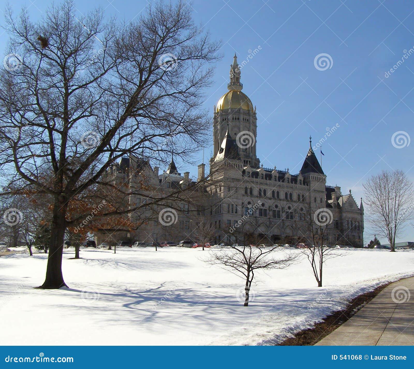 国会大厦视图冬天