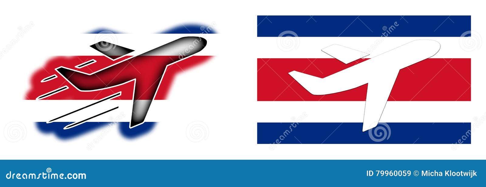 国家旗子-被隔绝的飞机-哥斯达黎加