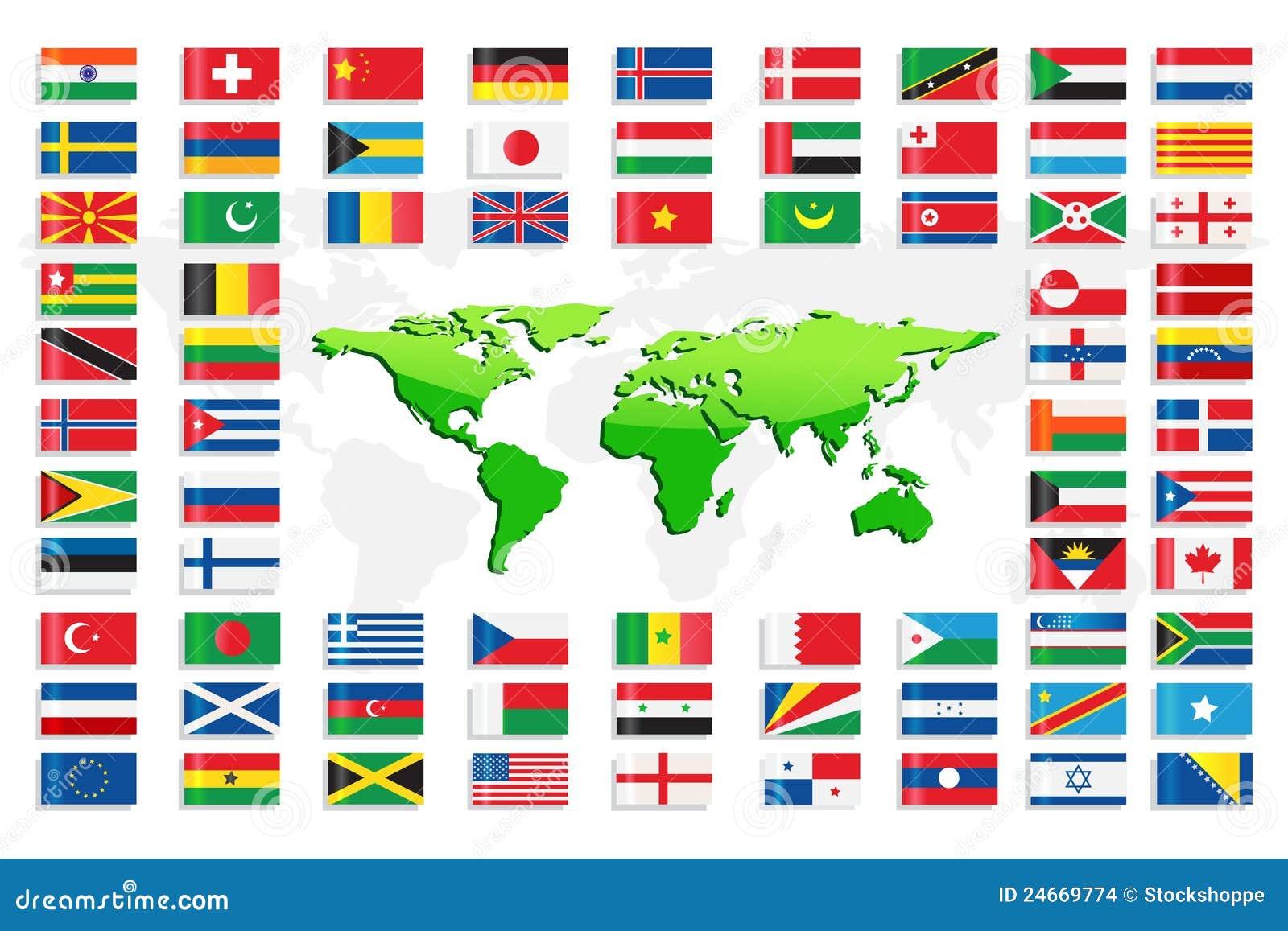 国旗映射世界