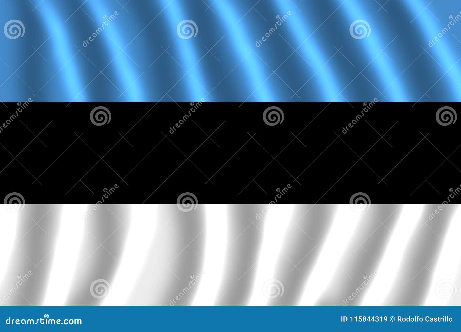 国旗爱沙尼亚振翼