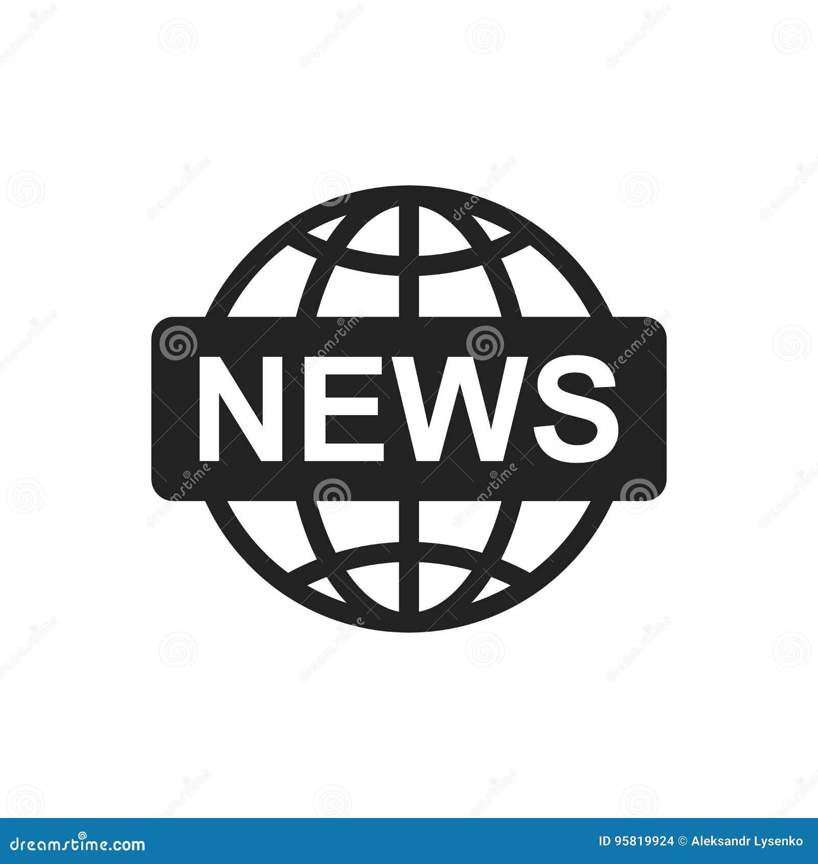 国际新闻平的传染媒介象 新闻标志商标例证