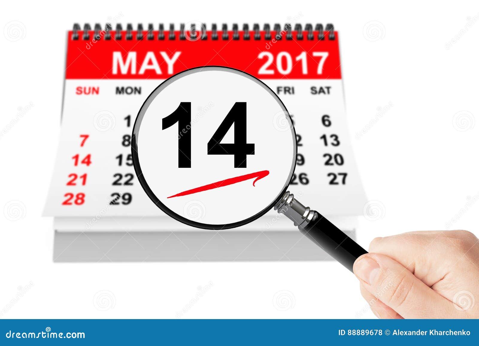 国际母亲` s天概念 14可以2017与ma的日历