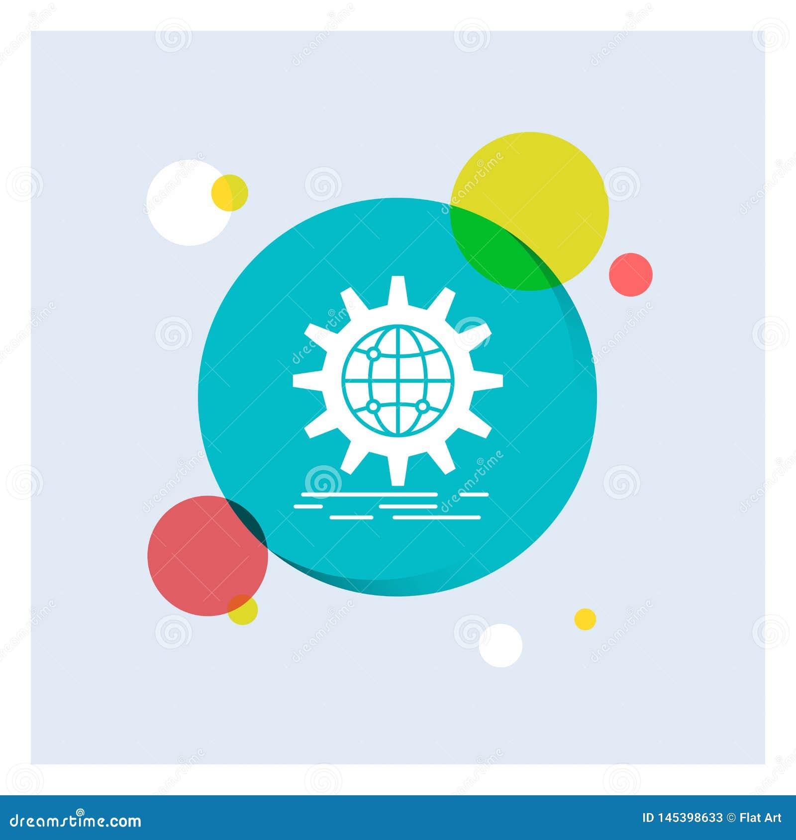 国际,事务,地球,全世界,齿轮白色纵的沟纹象五颜六色的圈子背景