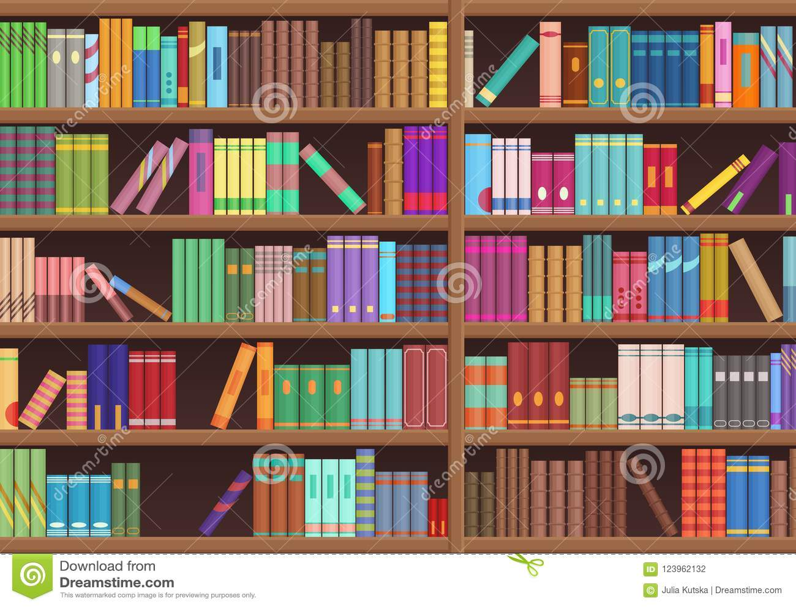 图书馆书架文学预定动画片传染媒介背景